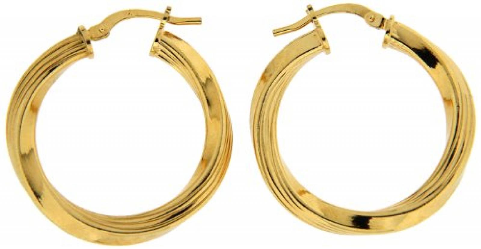 Kettenworld Damen-Creolen Bronze 281778