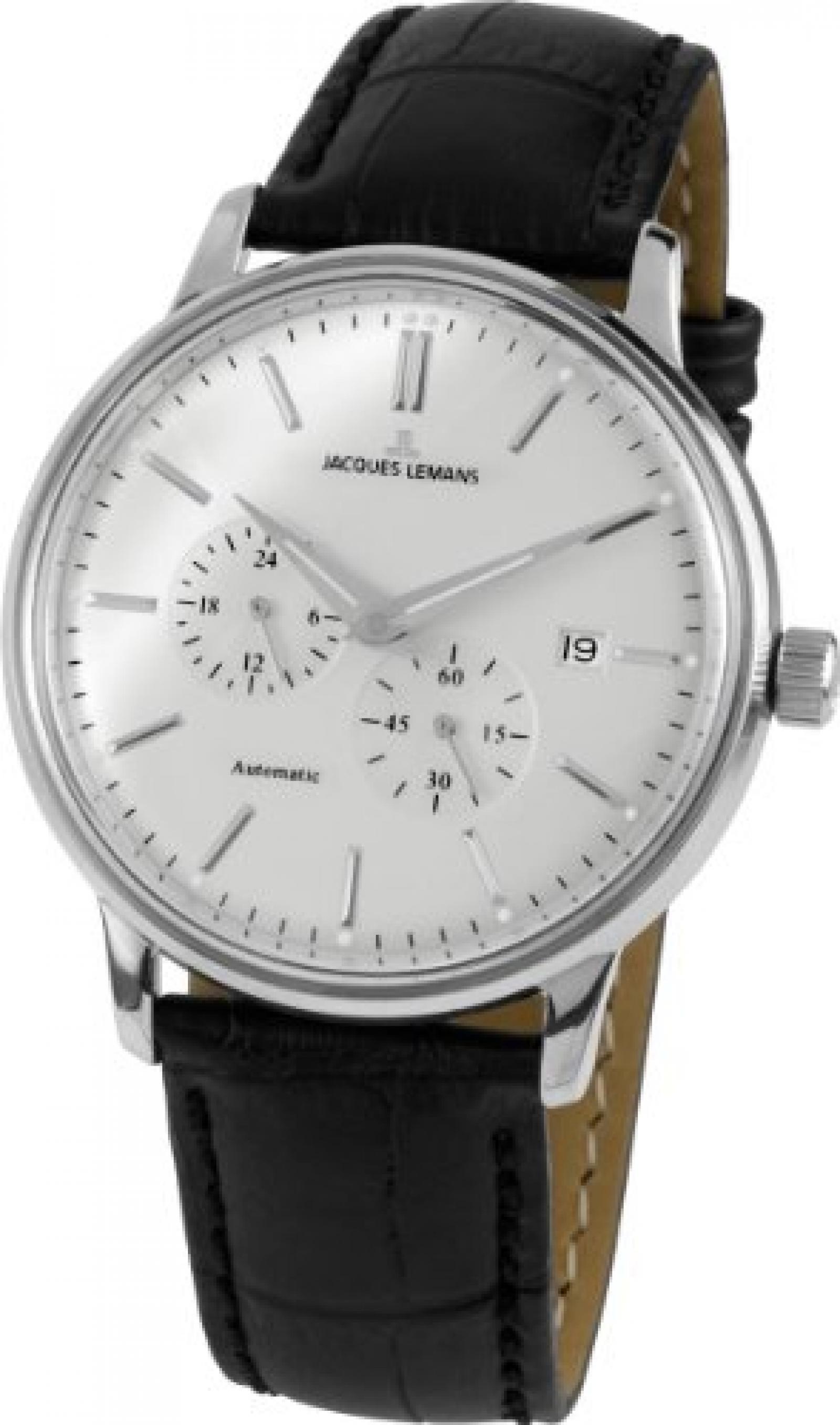 Jacques Lemans Unisex-Armbanduhr Jacques Lemans Nostalgie Analog Automatik Leder N-210A