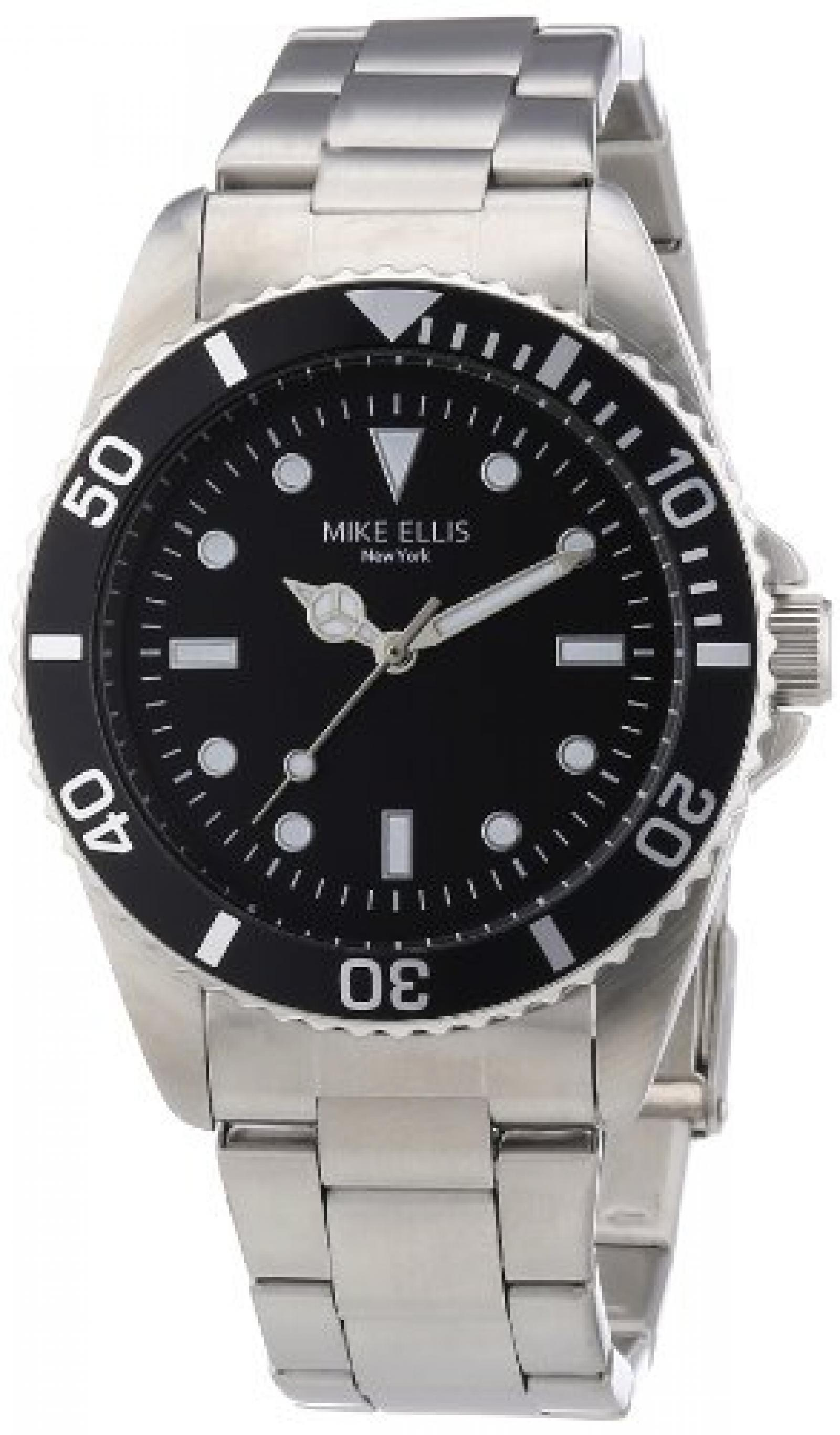 Mike Ellis New York Herren-Armbanduhr XS Analog Quarz Edelstahl M2969ASM/2