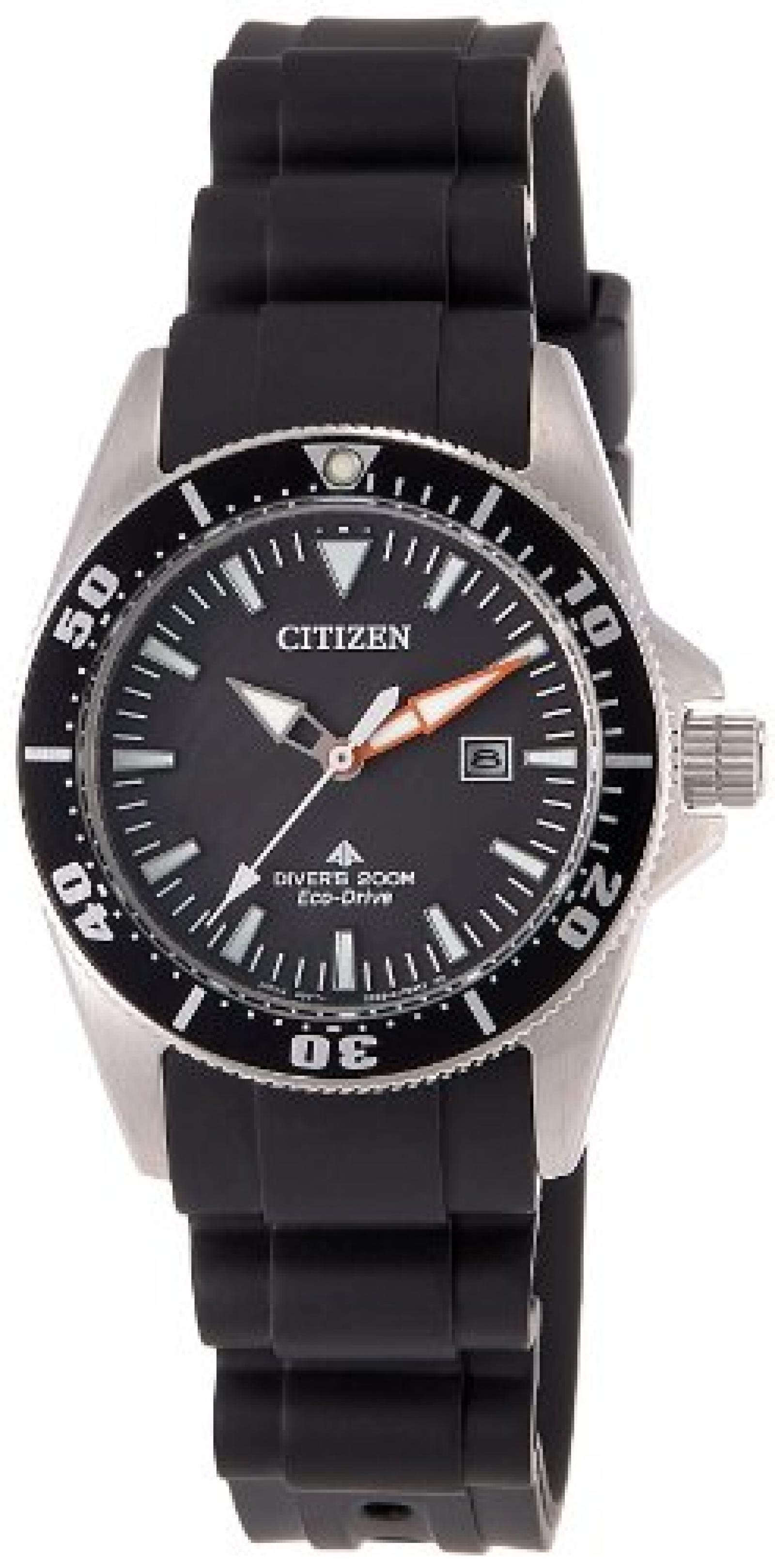 Citizen Damen-Armbanduhr XS Promaster Sea Eco-Drive Diver Analog Kautschuk EP6040-02E