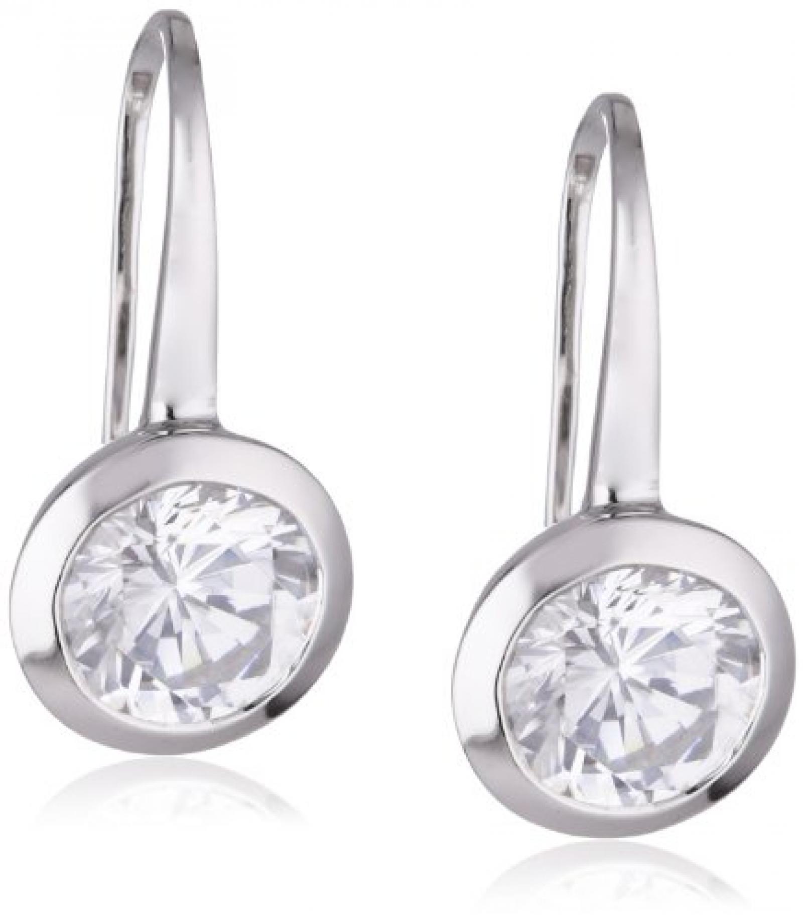 Viventy Damen-Ohrhänger 925 Sterling Silber mit 1 Zirkonia in weiss 763264