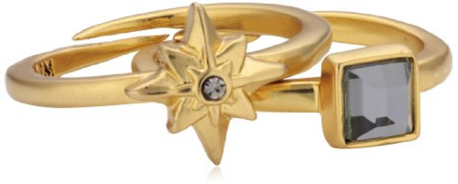 Pilgrim Jewelry Damen-Ring Messing Kristall Glaskristall Starcross grau Gr. 191342104