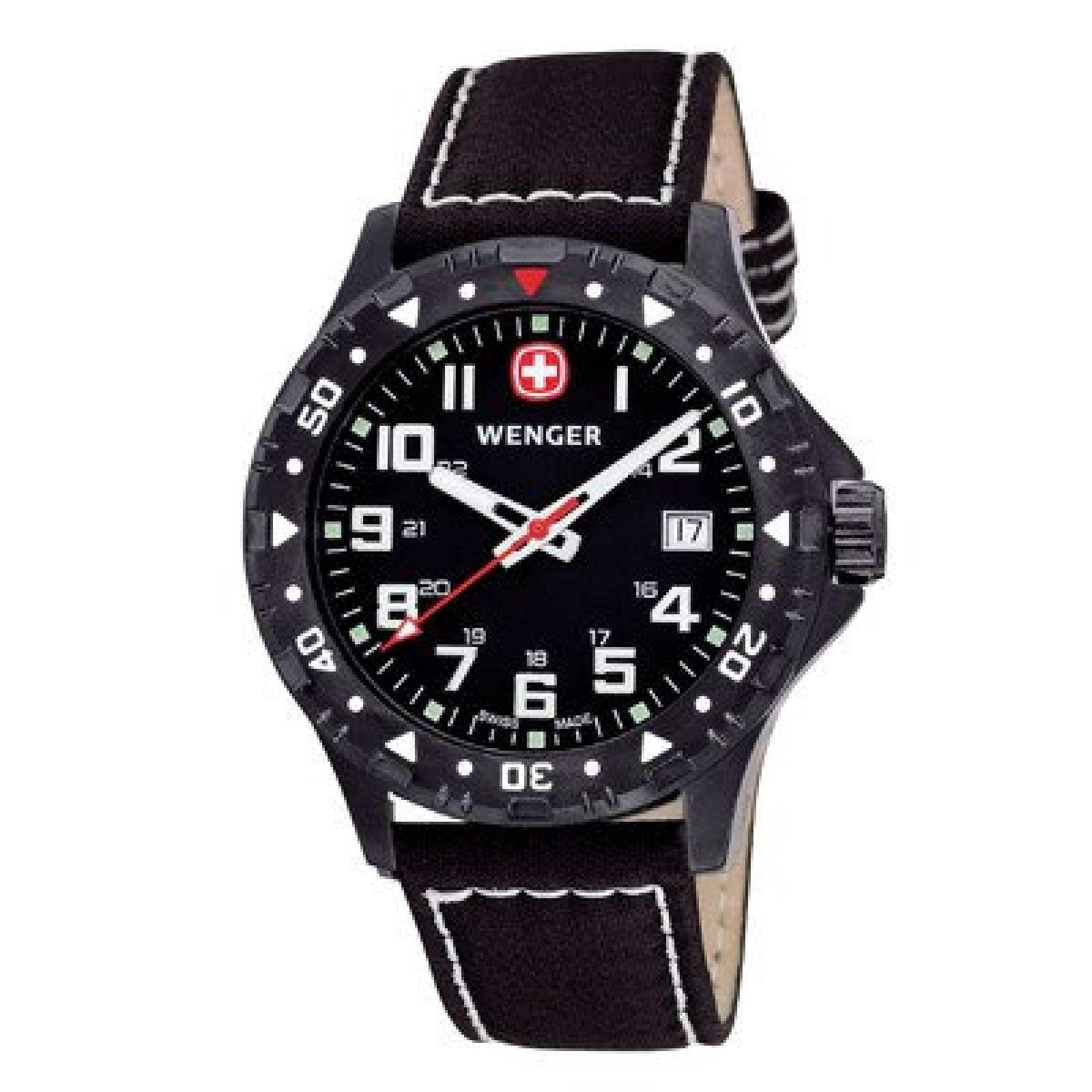"""Uhr """"Offroad PVD"""" mit Leder-Armband"""