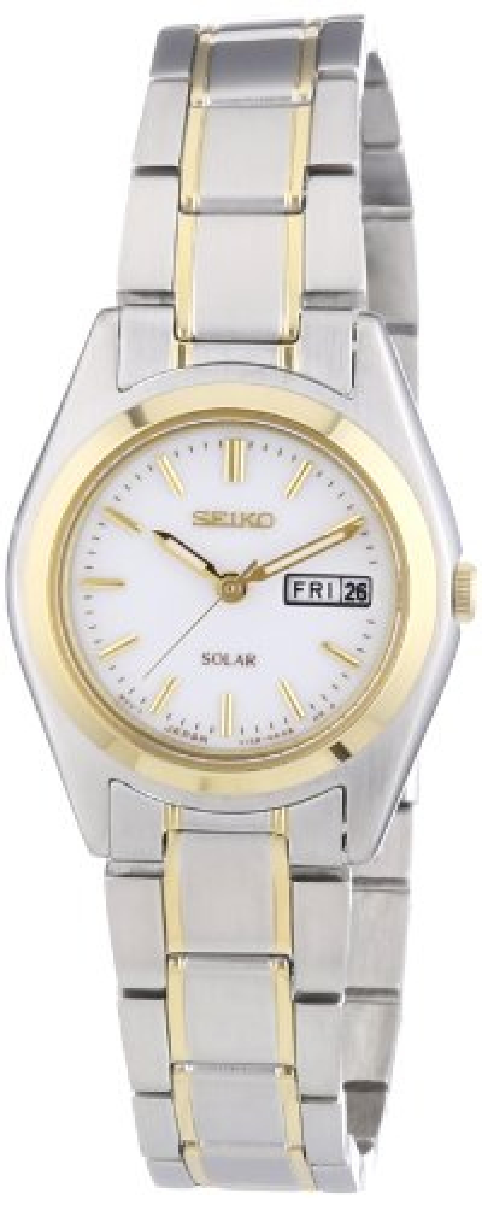 Seiko Damen-Armbanduhr XS Analog Quarz Edelstahl beschichtet SUT108P1