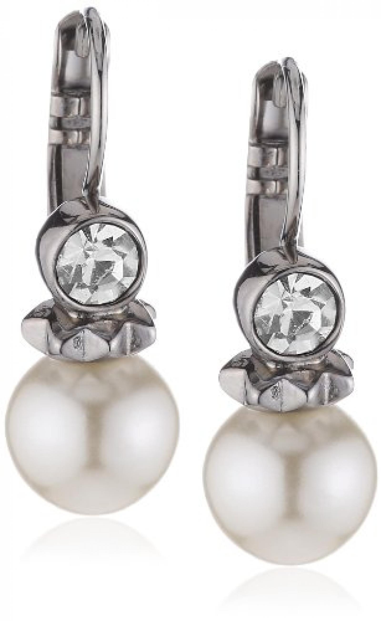 Dyrberg/Kern Damen-Perlen-Ohrhänger SAFIRA SS WHITE 333875