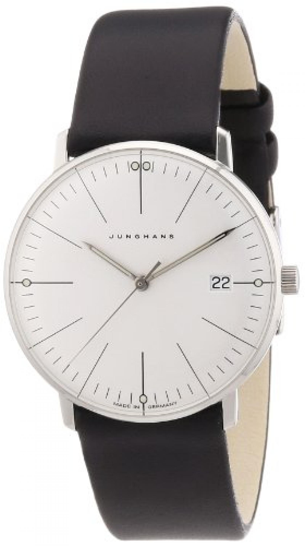 Junghans Damen-Armbanduhr XS Max Bill Analog Quarz Leder 047/4251.00