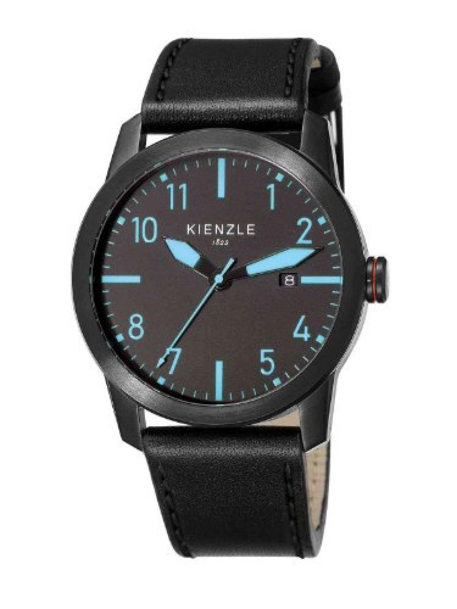 Kienzle Herren-Armbanduhr XL Analog Leder K3081043041