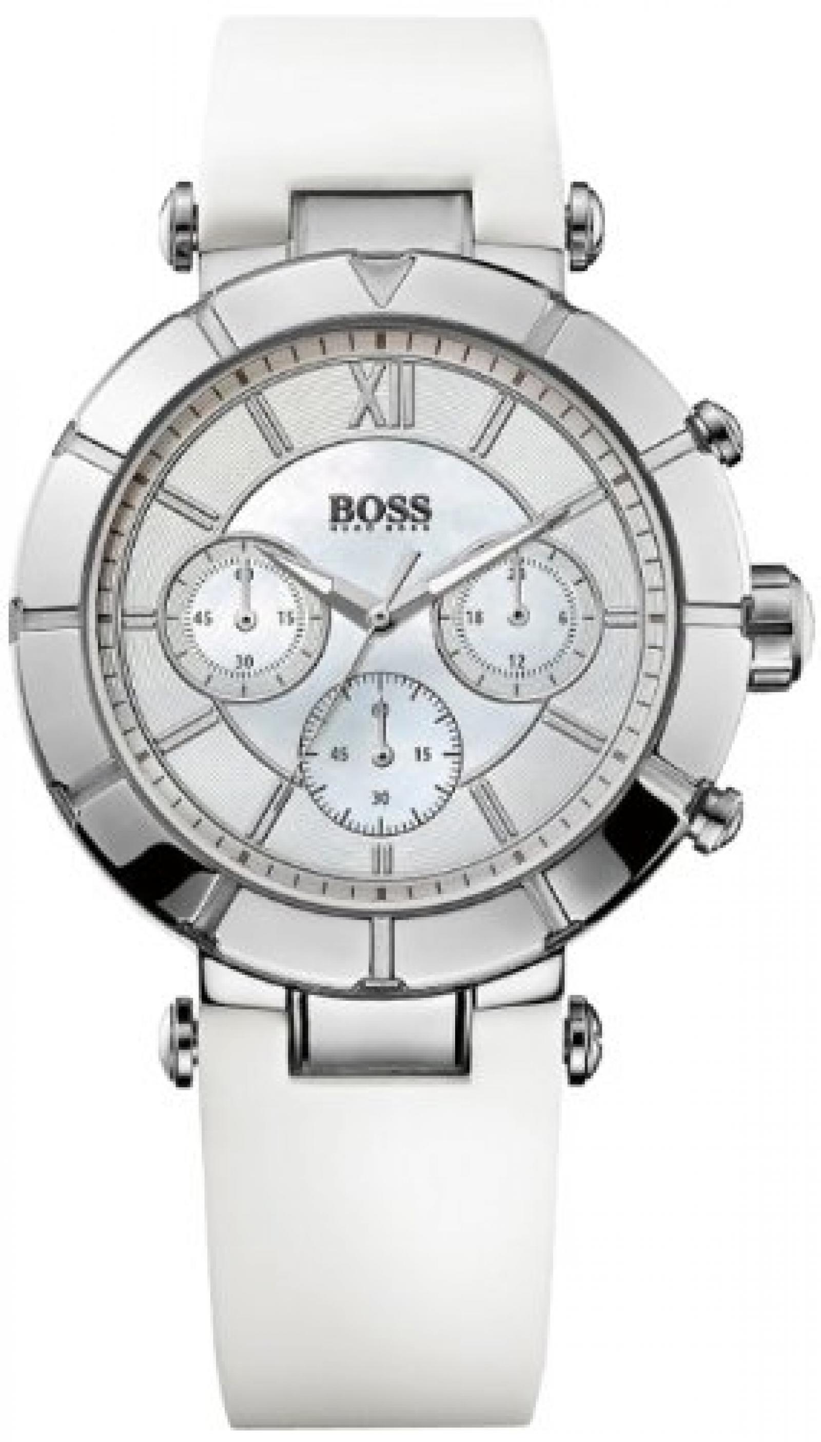 Hugo Boss Damen-Armbanduhr Chronograph Quarz Silikon 1502314