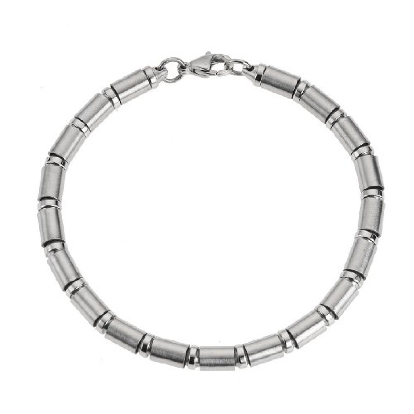 ZEEme Stainless Steel Armband 5mm stark aus Stahl und 21cm lang 385060017-21