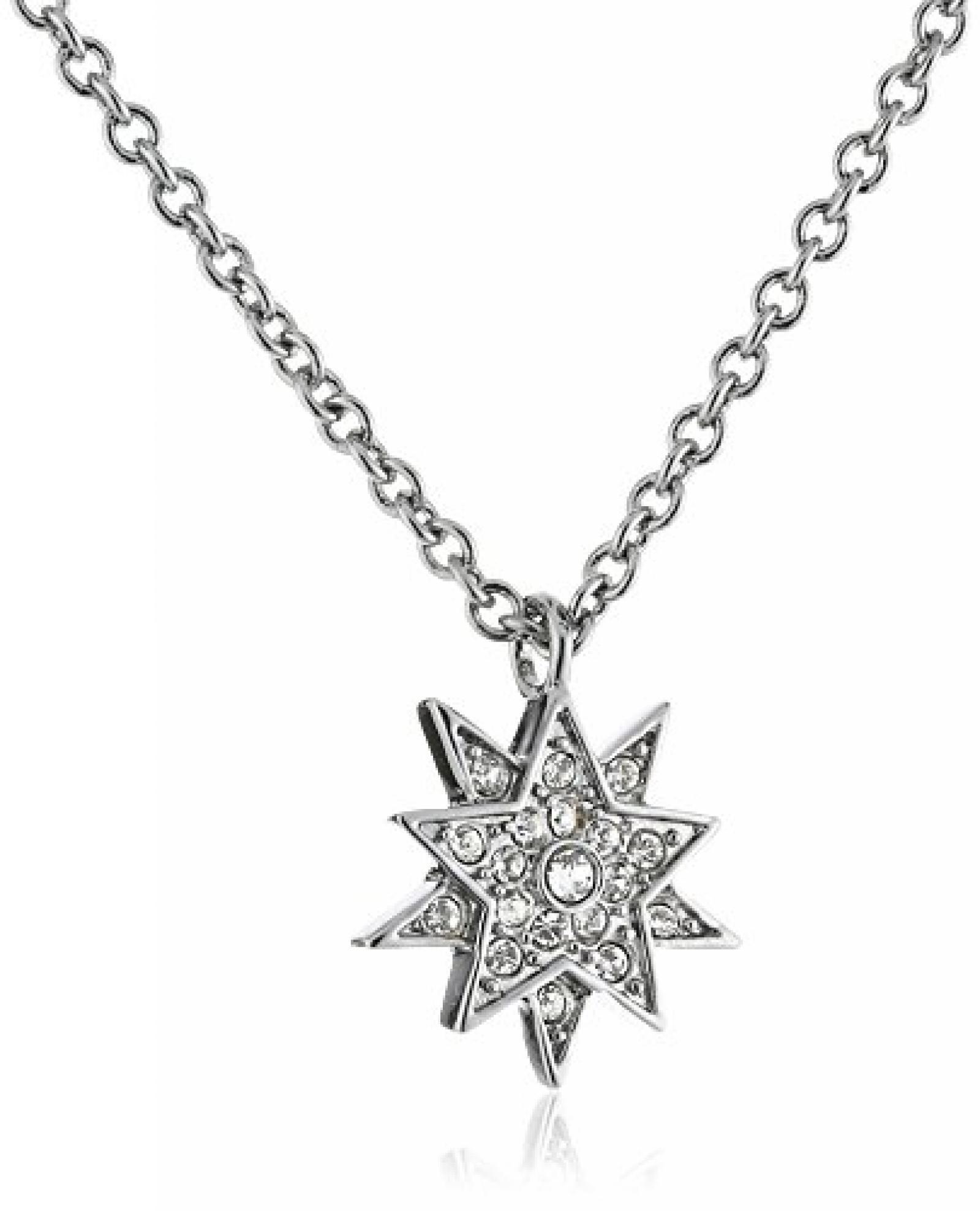 Dyrberg/Kern Damen Halskette Versilbertes Metall Kristall Swarovski 336175