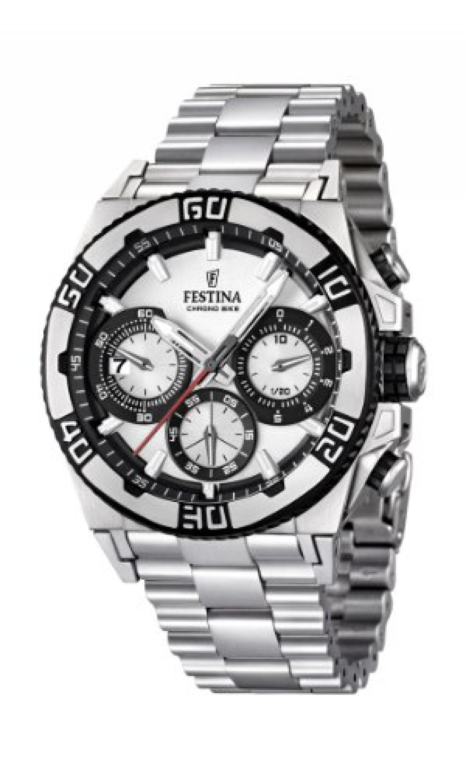 Festina Herren-Armbanduhr XL Chronograph Quarz Edelstahl F16658/1