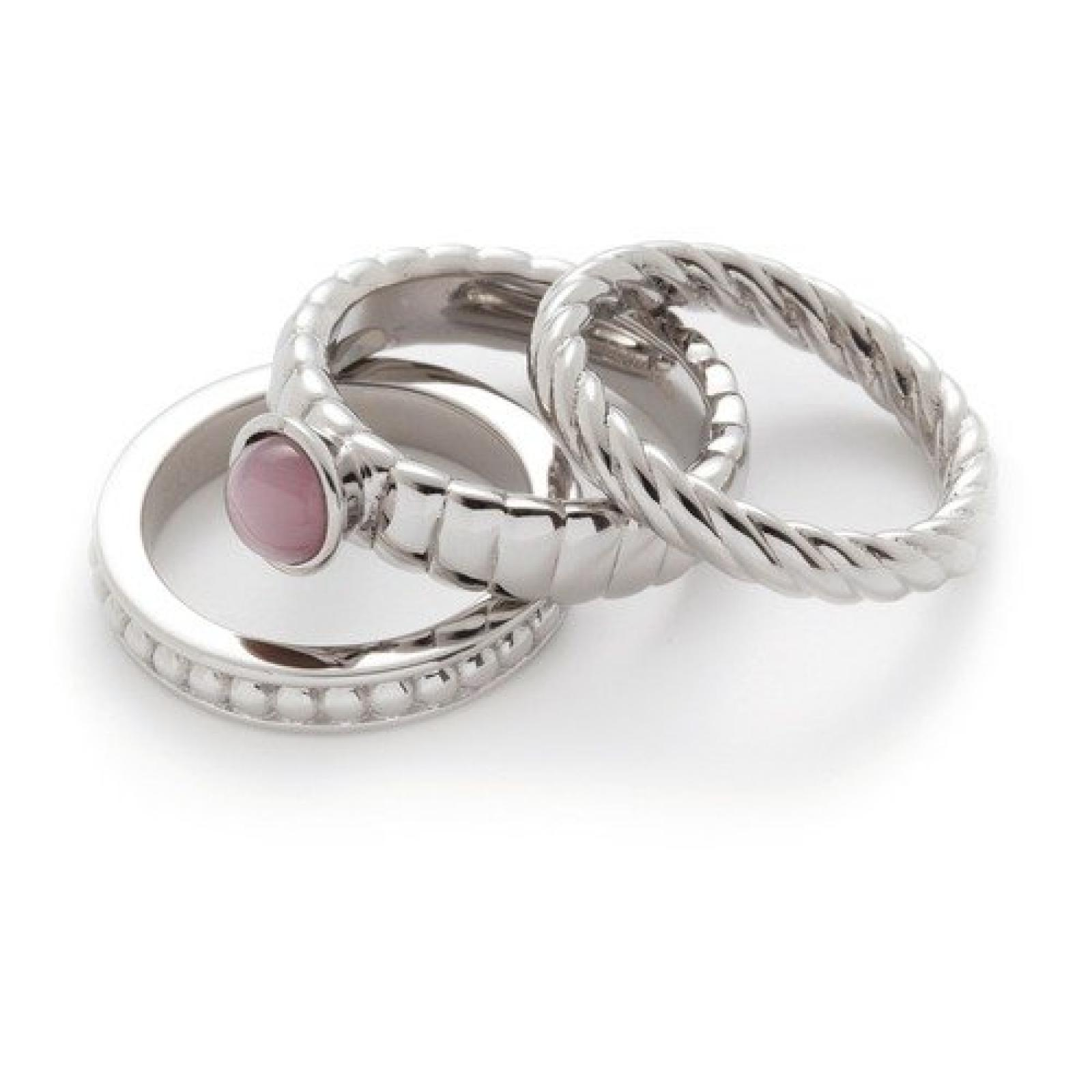 Leonardo 3-Ring-Set Trio Twirl rosé