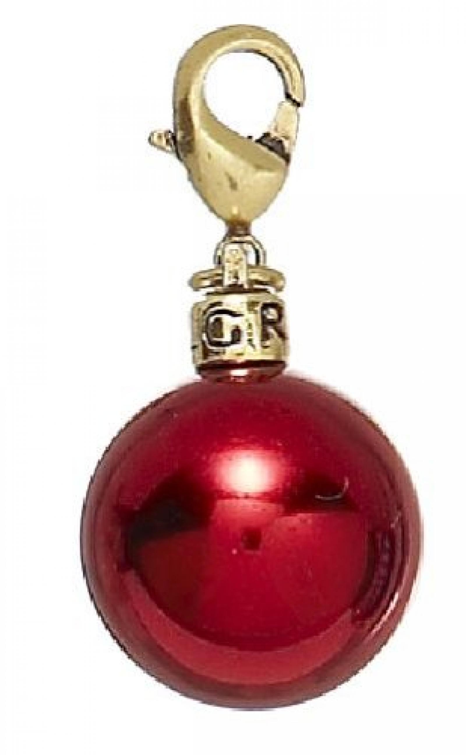 Pilgrim Damen-Anhänger, Vergoldet, Rot 444-543