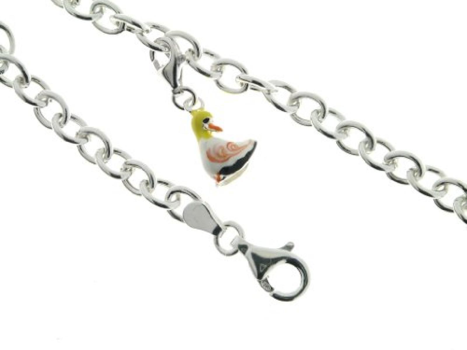 Bob C Damen-Charmsarmband mit Einhänger Ente 925 Sterling Silber 317509