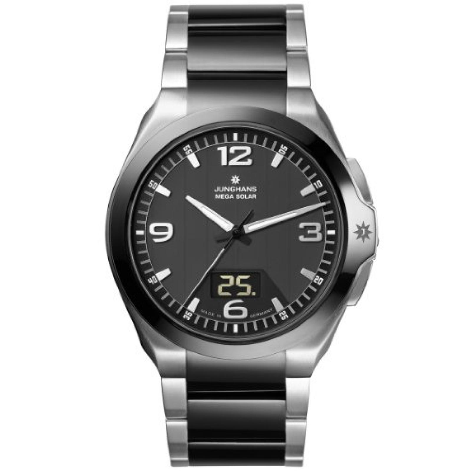Junghans Herren-Armbanduhr XL Spectrum Analog - Digital verschiedene Materialien 018/1120.44