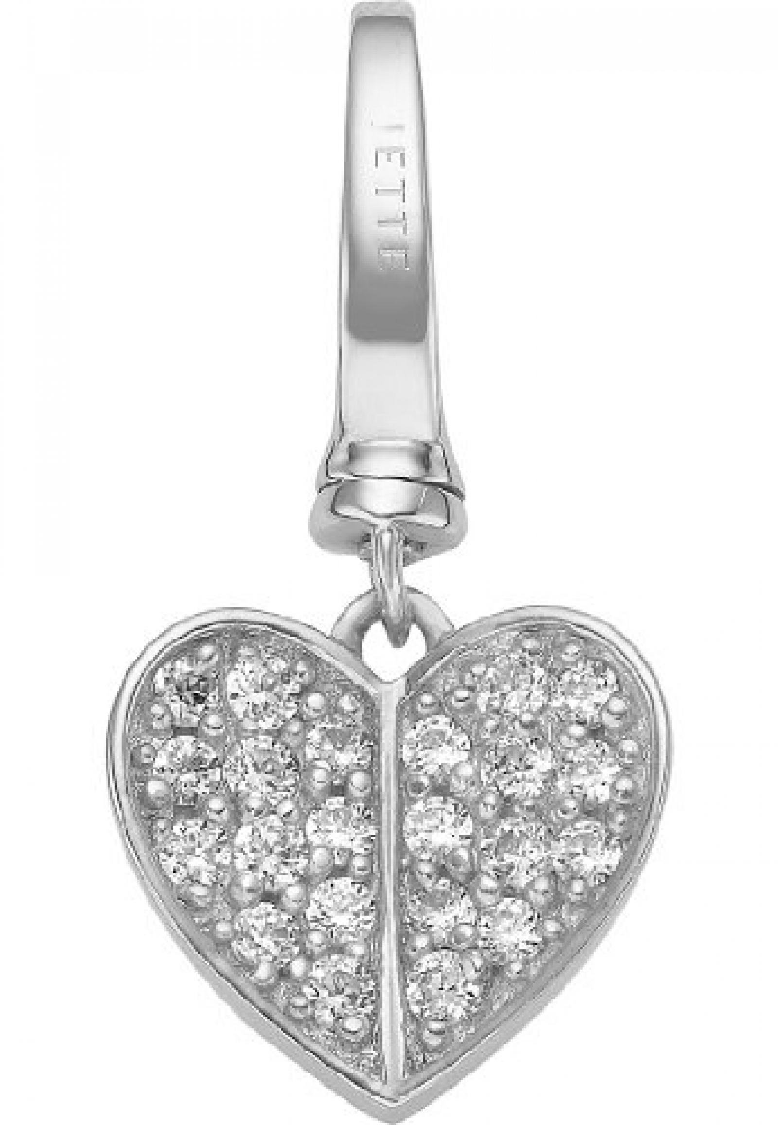 JETTE Charms Damen-Charm CHARM 925er Silber rhodiniert 22 Zirkonia One Size, silber