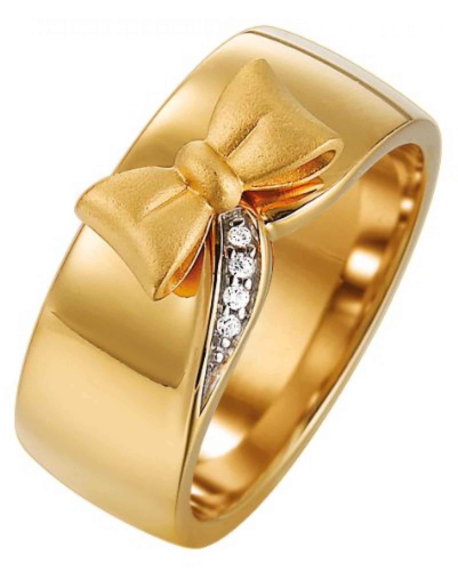 Pierre Cardin Damen-Ring 925 Sterling Silber rhodiniert Kristall Zirkonia Papillon weiß Gr.57 (18.1) PCRG90376B180