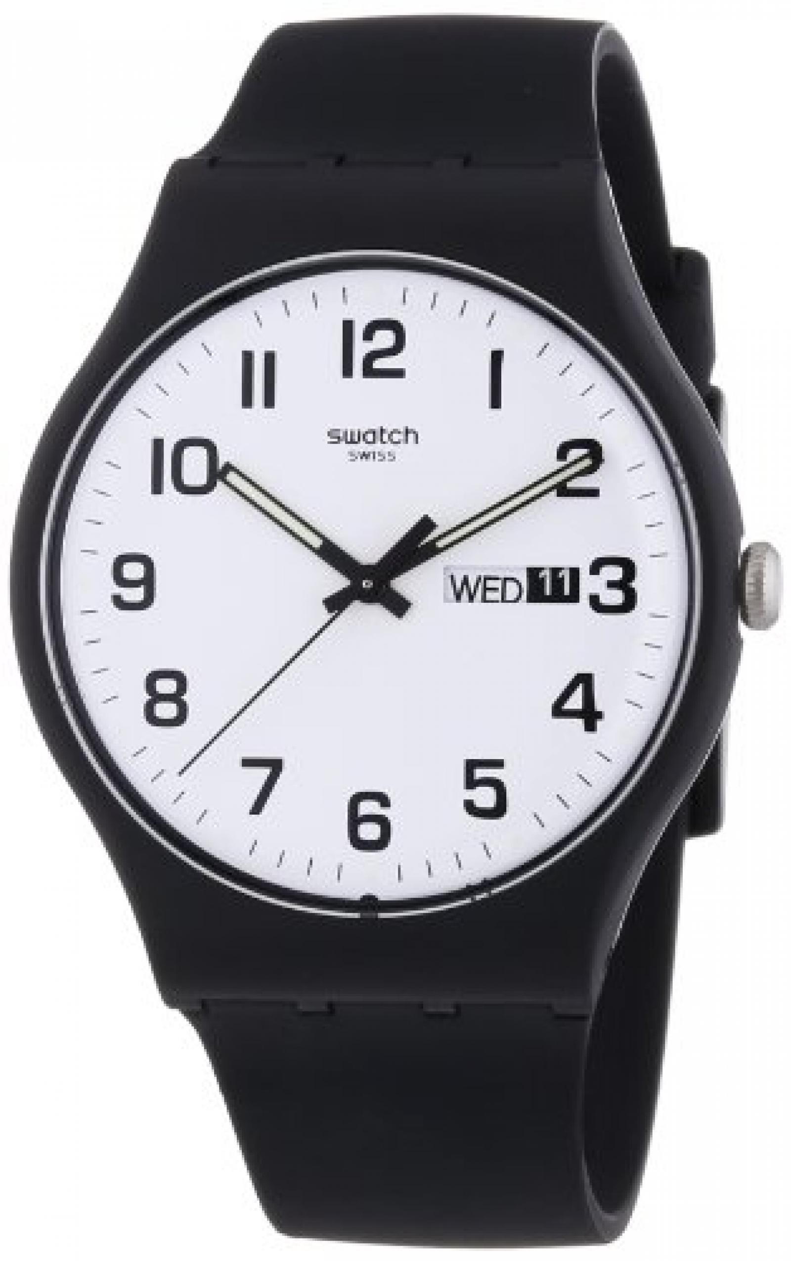 Swatch Herren-Armbanduhr XL Twice Again Analog Quarz Kautschuk SUOB705
