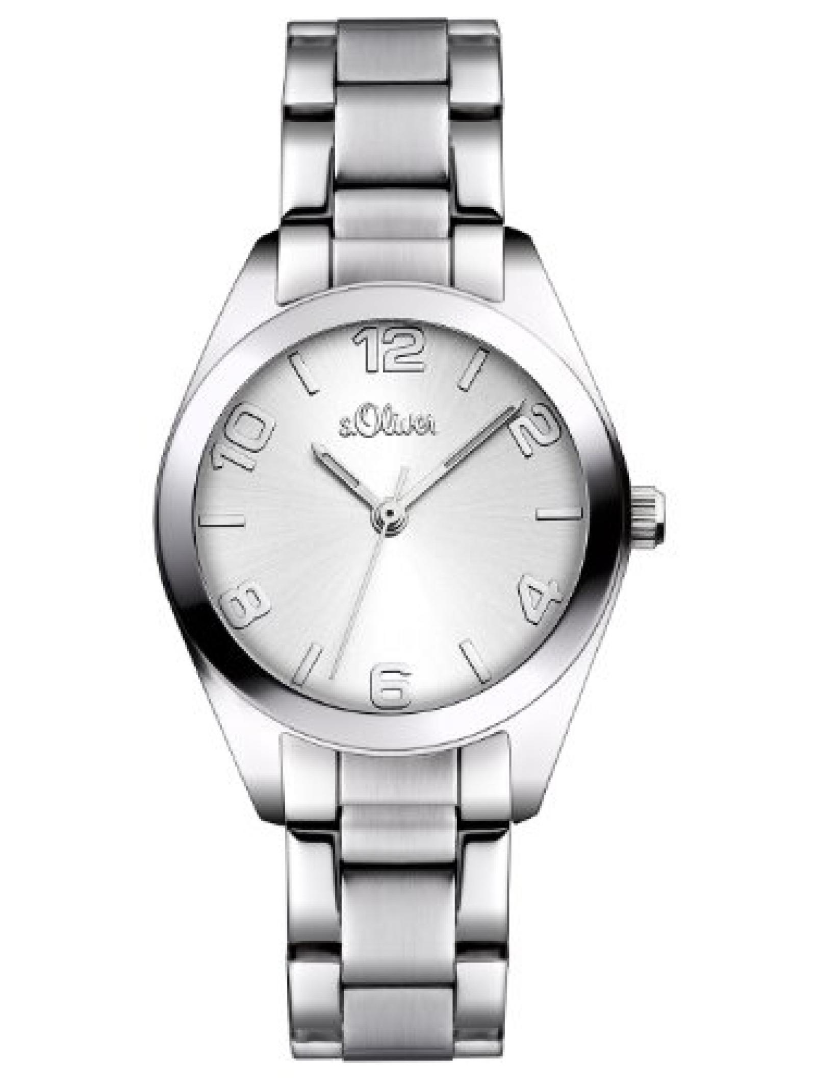 s.Oliver Damen-Armbanduhr Casual XS Analog Quarz Edelstahl SO-2489-MQ