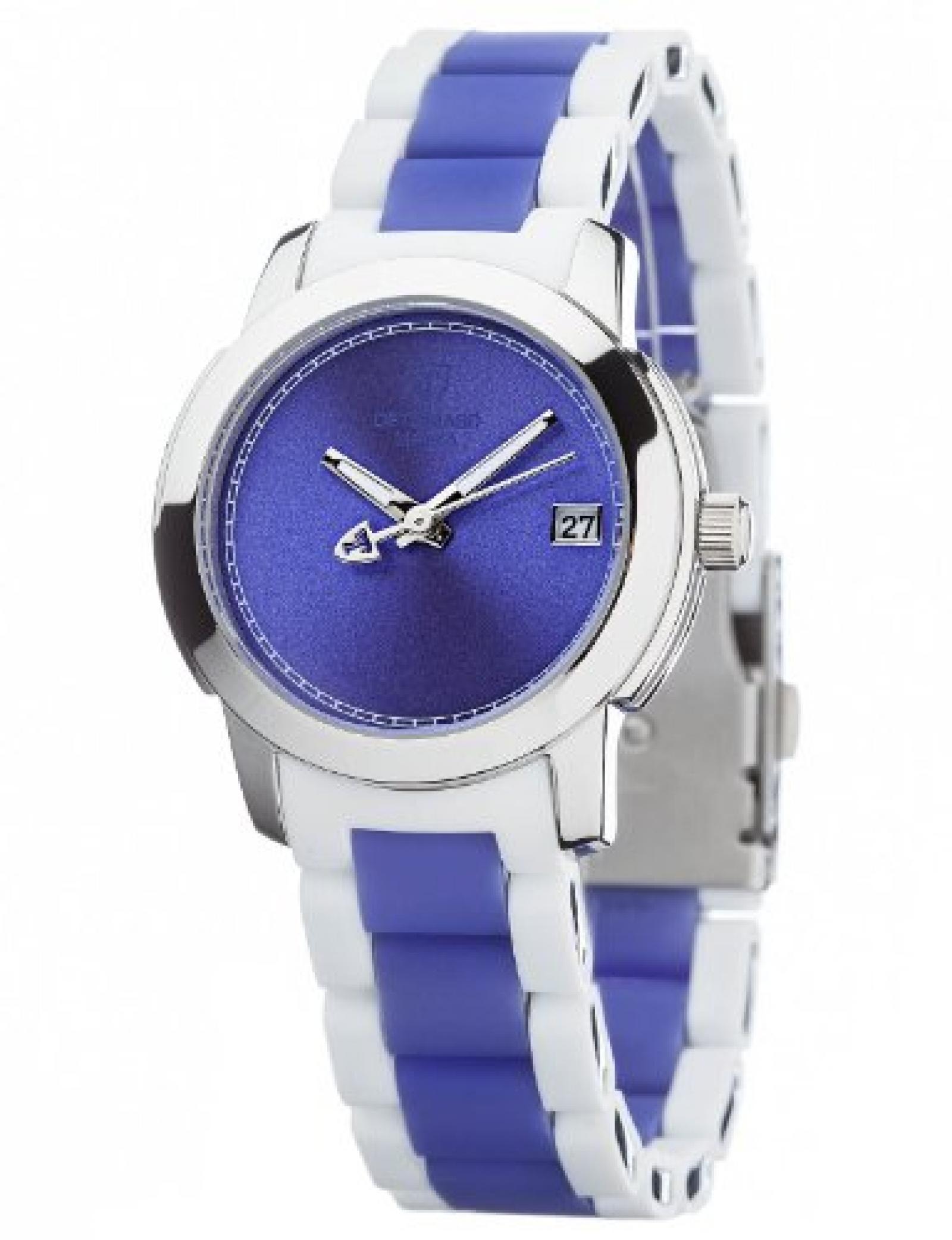 Detomaso Damen-Armbanduhr MAIRA Violett Ladies Damen Analog Quarz verschiedene Materialien DT3019-B