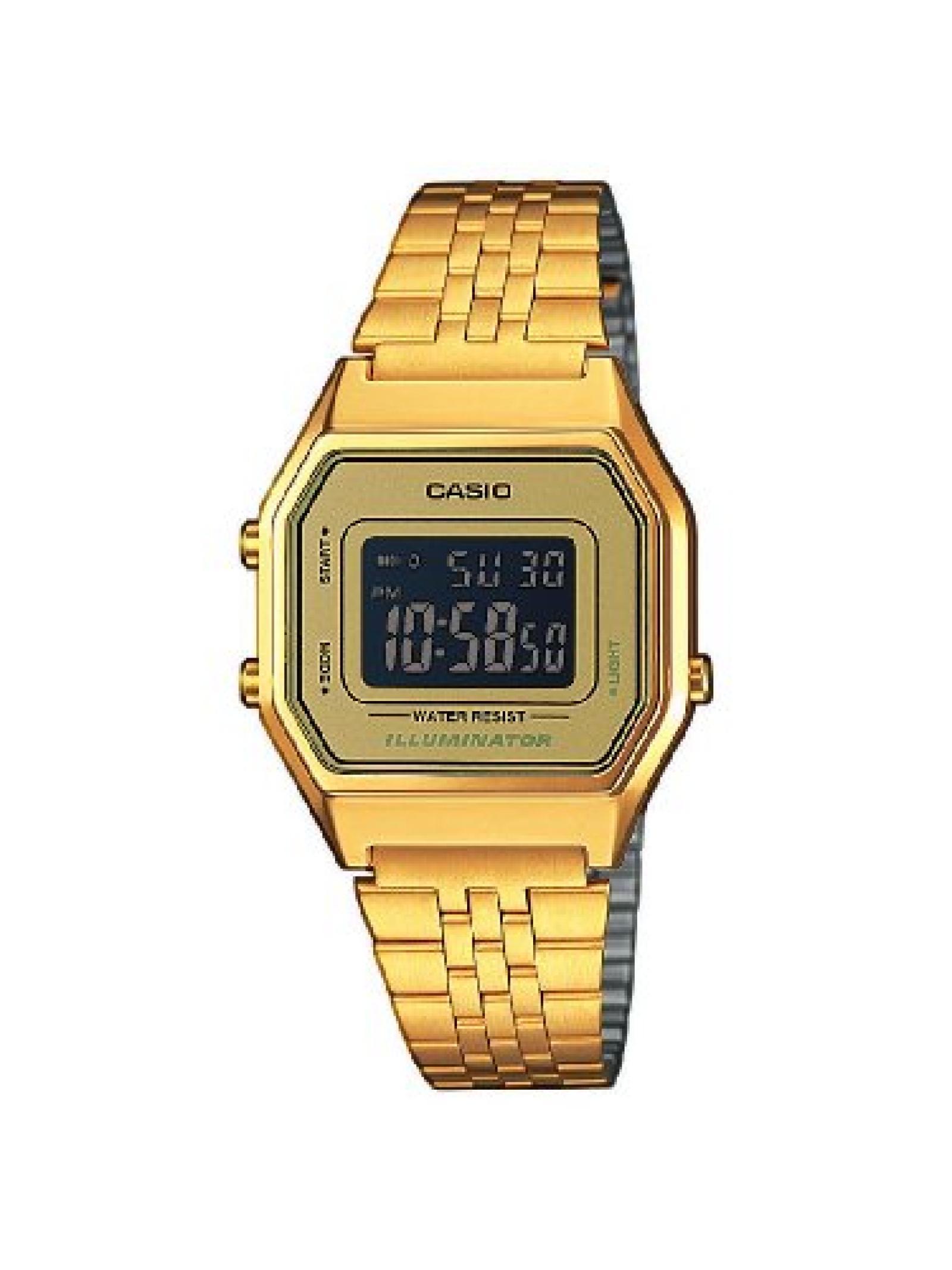Casio Damen-Armbanduhr Casio Collection Digital Quarz Edelstahl LA680WEGA-9BER