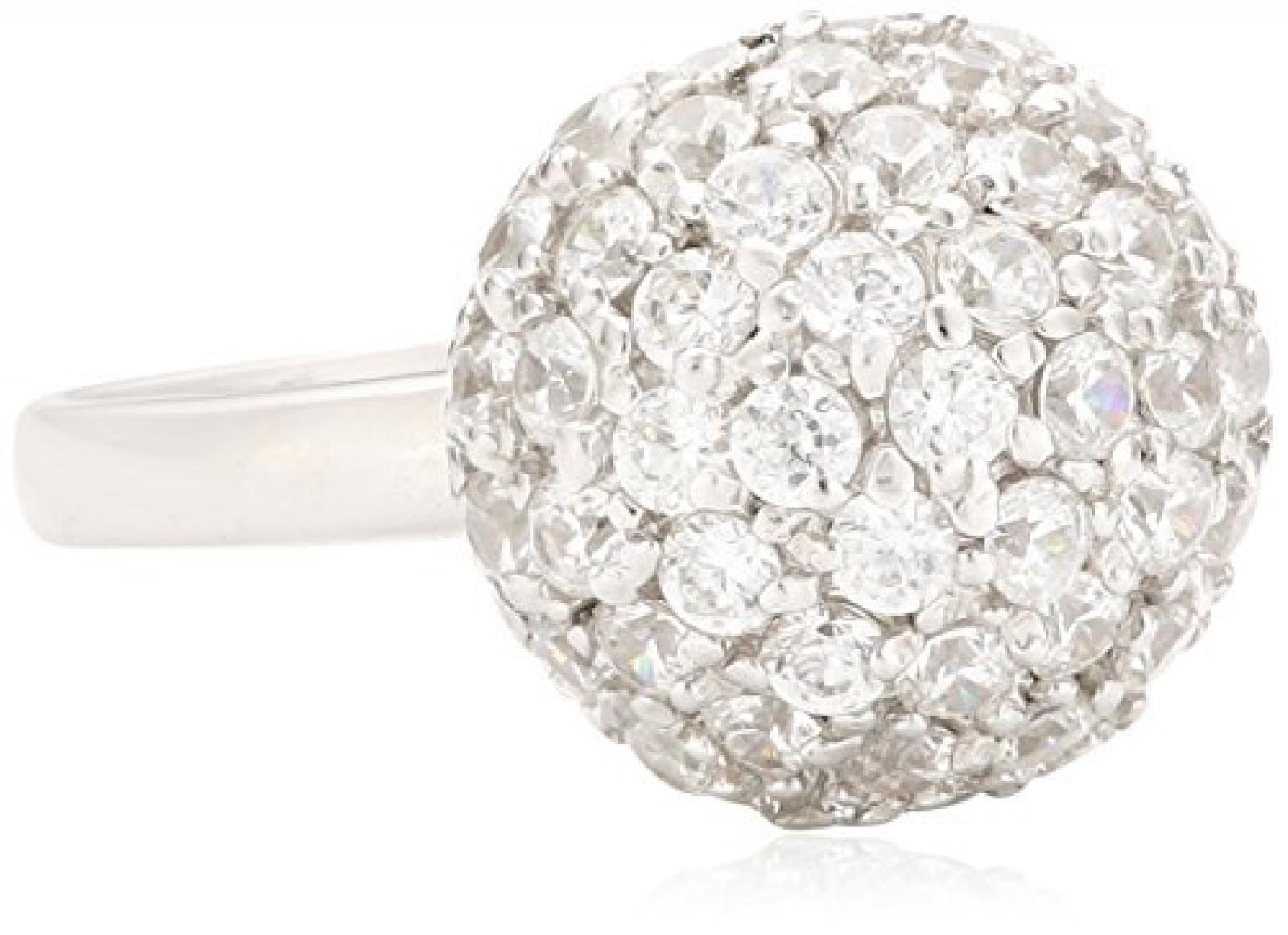 Celesta - Damenring Kugel aus 925er Sterling Silber und 68 weißen Zirkonias