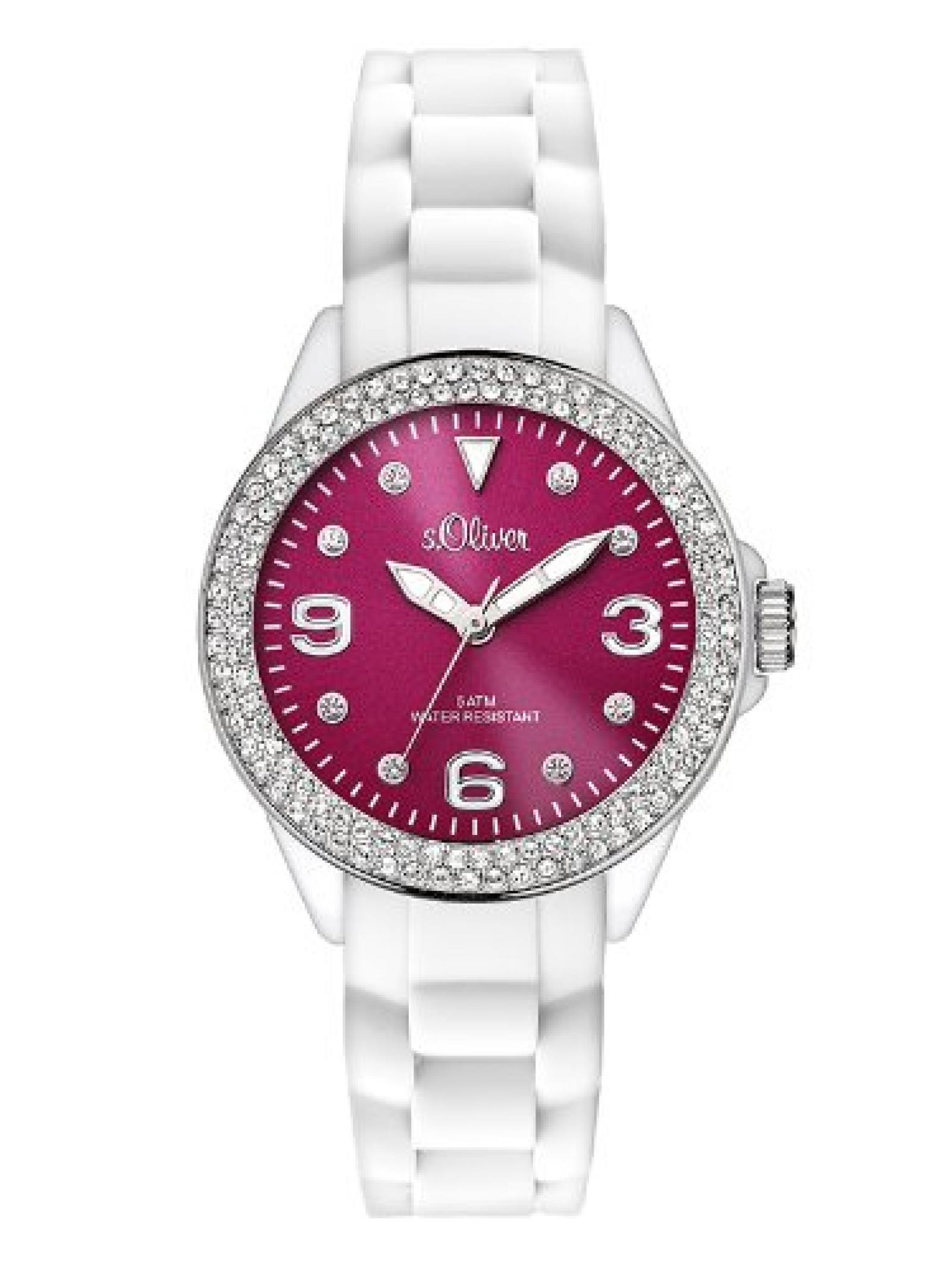 s.Oliver Damen-Armbanduhr XS Analog Quarz Silikon SO-2721-PQ