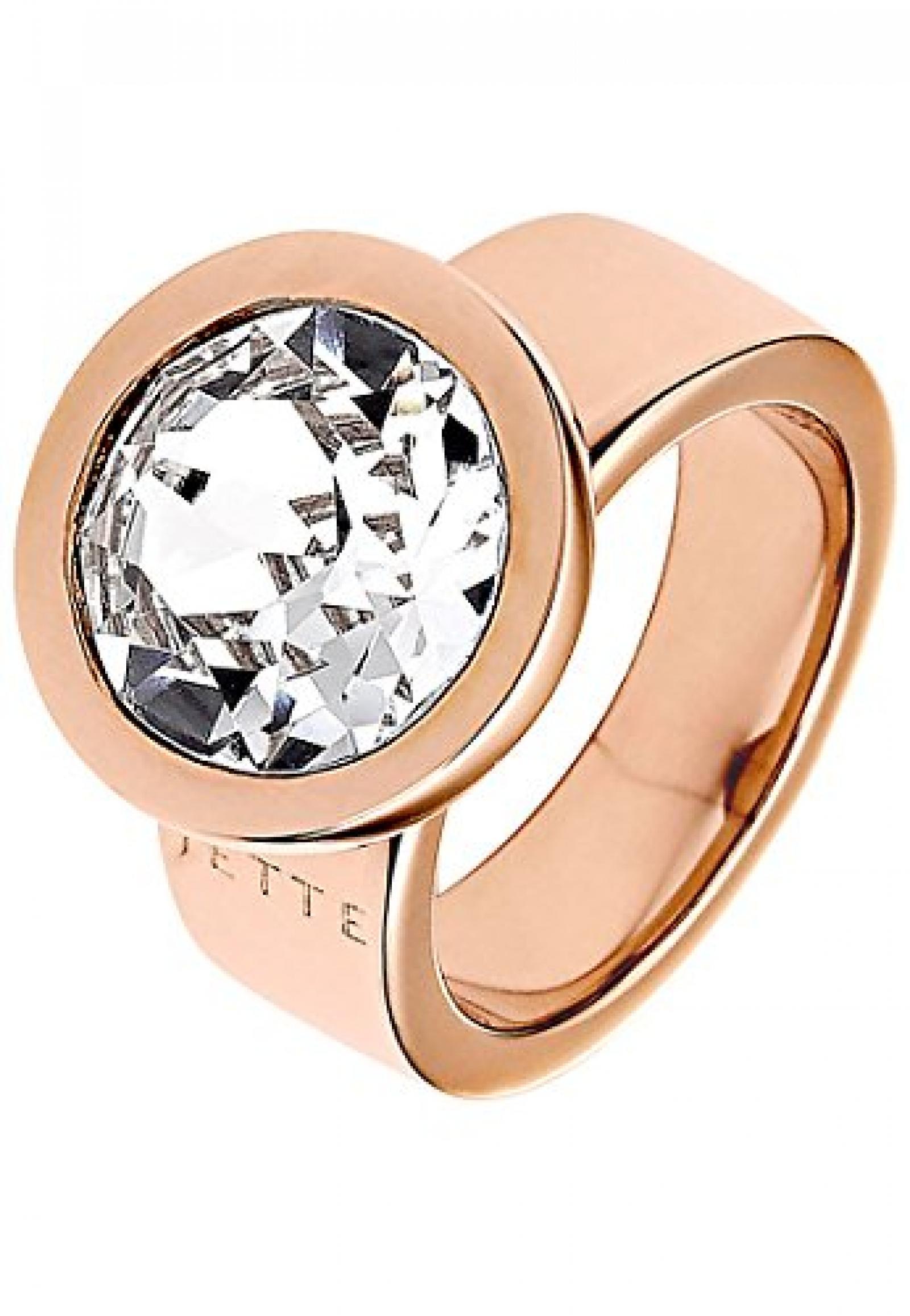 JETTE Magic Passion Damen-Ring JETTE Magic Innocence Metall 1 Kristall (rosé)