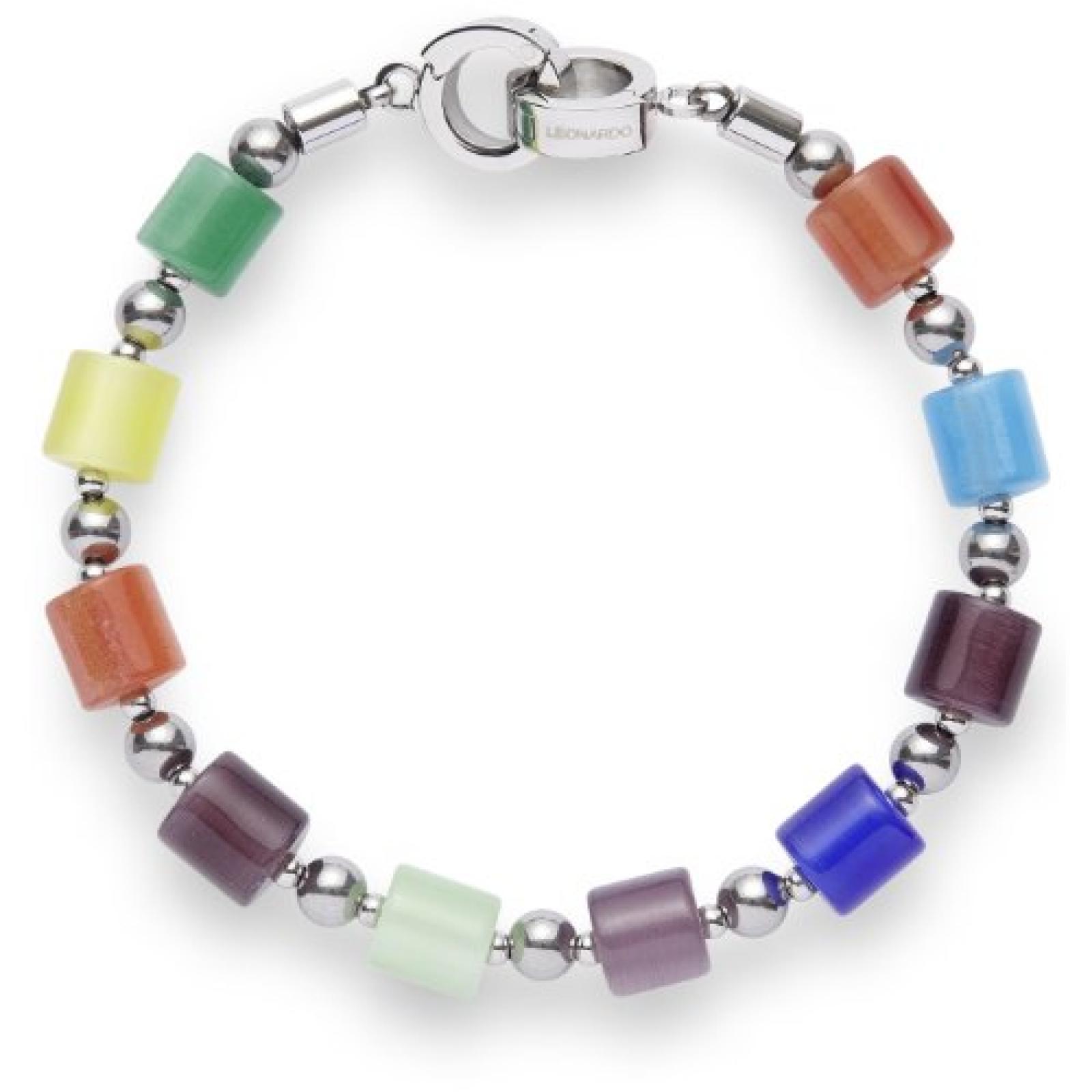 Leonardo Jewels Damen-Armband Edelstahl Zilindro multicolor 15039