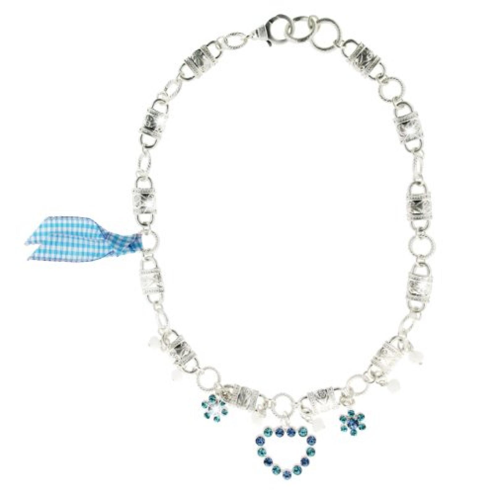 Sweet Deluxe Damen-Halskette Messing Wiesn Herzilein silber/hellblau 2560
