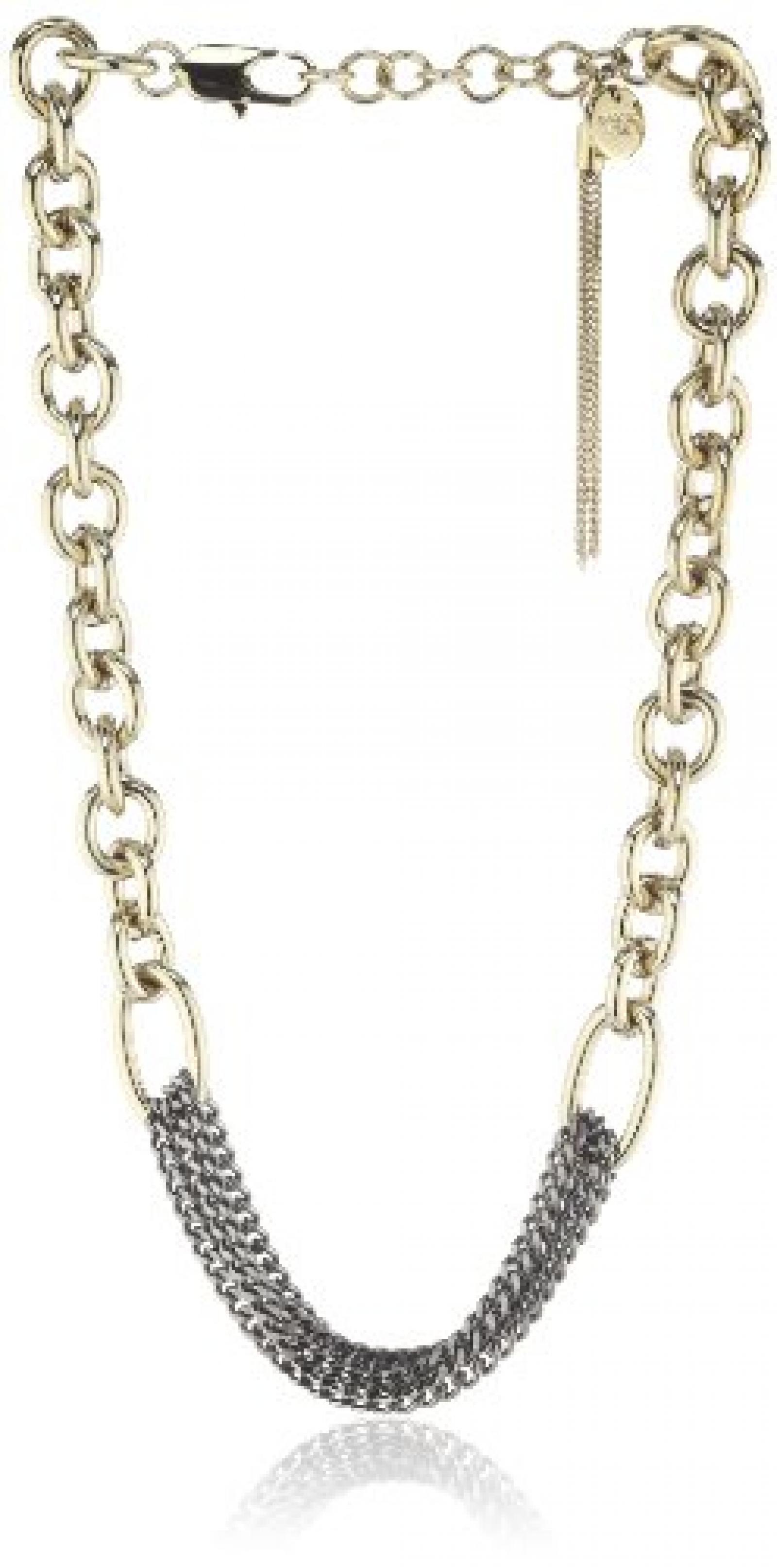 Dyrberg/Kern Damen-Halskette ohne Anhänger Derisa sg grey Vergoldetes 334470