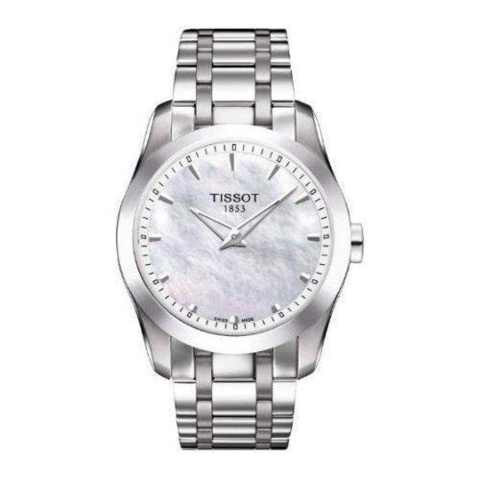 Damen-Armbanduhr XS Analog Quarz Edelstahl T035.246.11.111.00