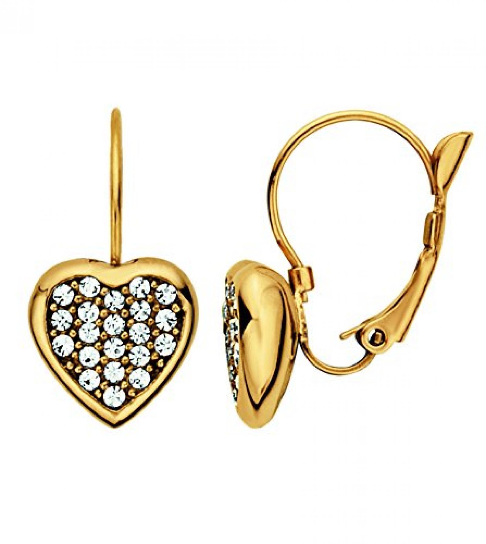 Dyrberg/Kern Damen-Ohrhänger Vergoldetes Metall Kristall 335436