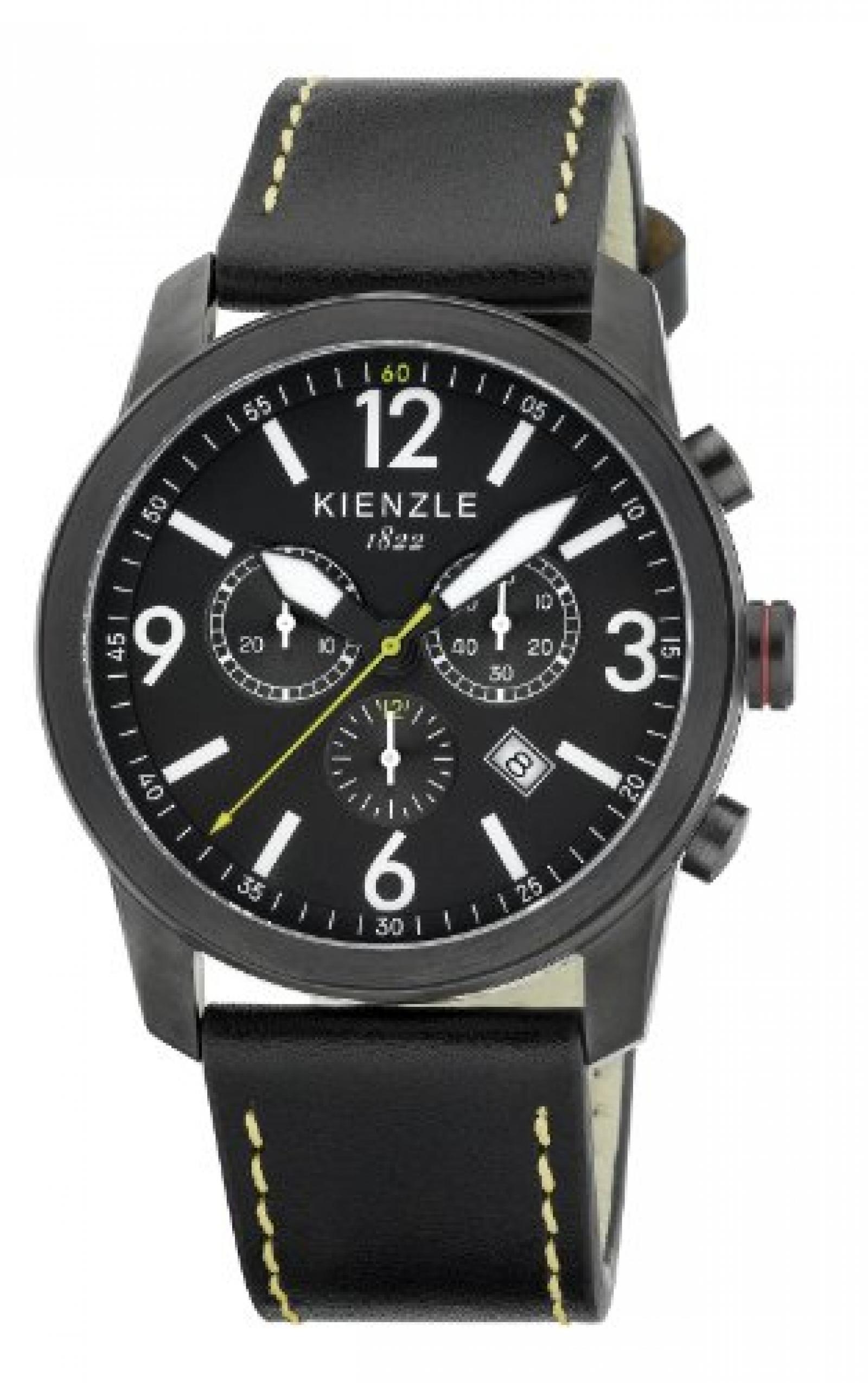 Kienzle Herren-Armbanduhr XL Chronograph KIENZLE CORE Analog Quarz Leder K3091043031-00321