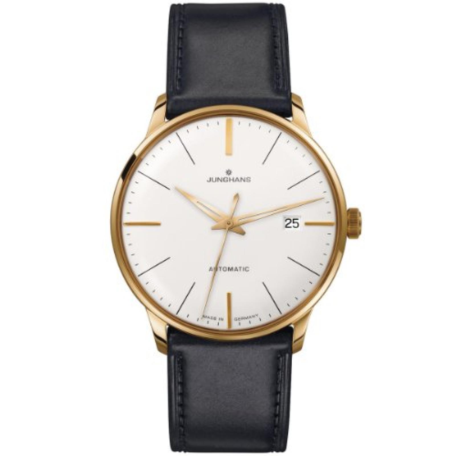 Junghans Herren-Armbanduhr XL Meister Automatic Analog Automatik Leder 027/7112.00