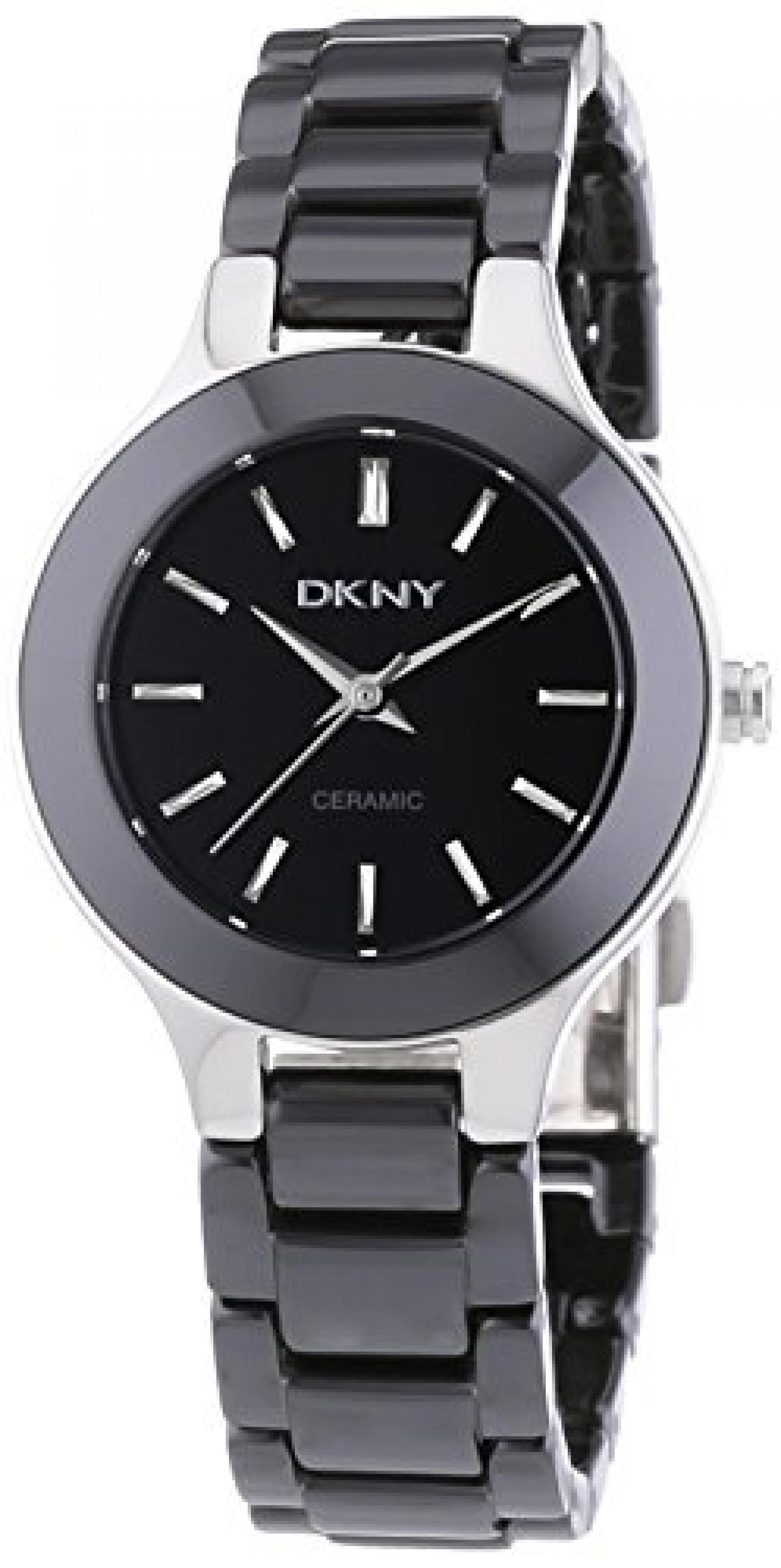 DKNY Damen-Armbanduhr XS Analog Quarz Keramik NY4887