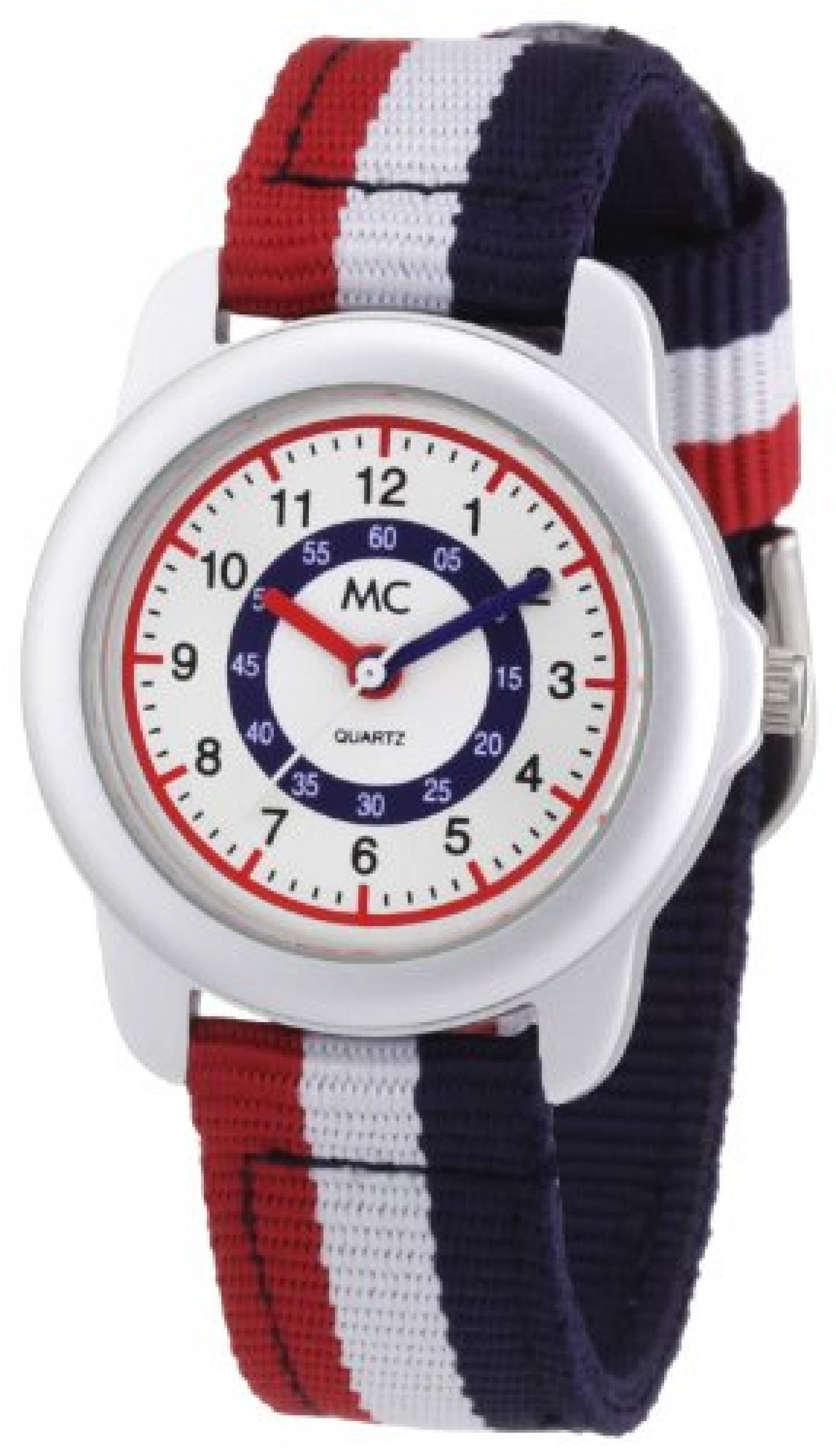 MC Timetrend Unisex-Armbanduhr Lernuhr Quarz Textil 50437