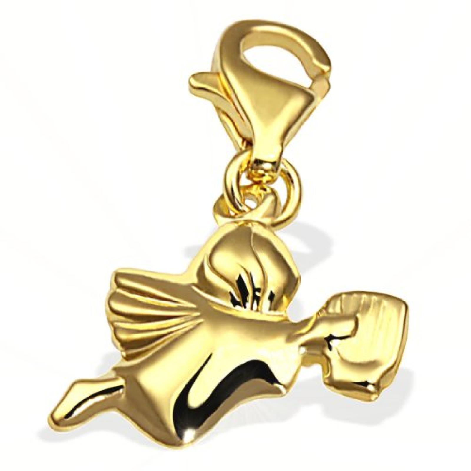 Goldmaid Damen-Charm Engel 333 Gelbgold Gch A4155GG