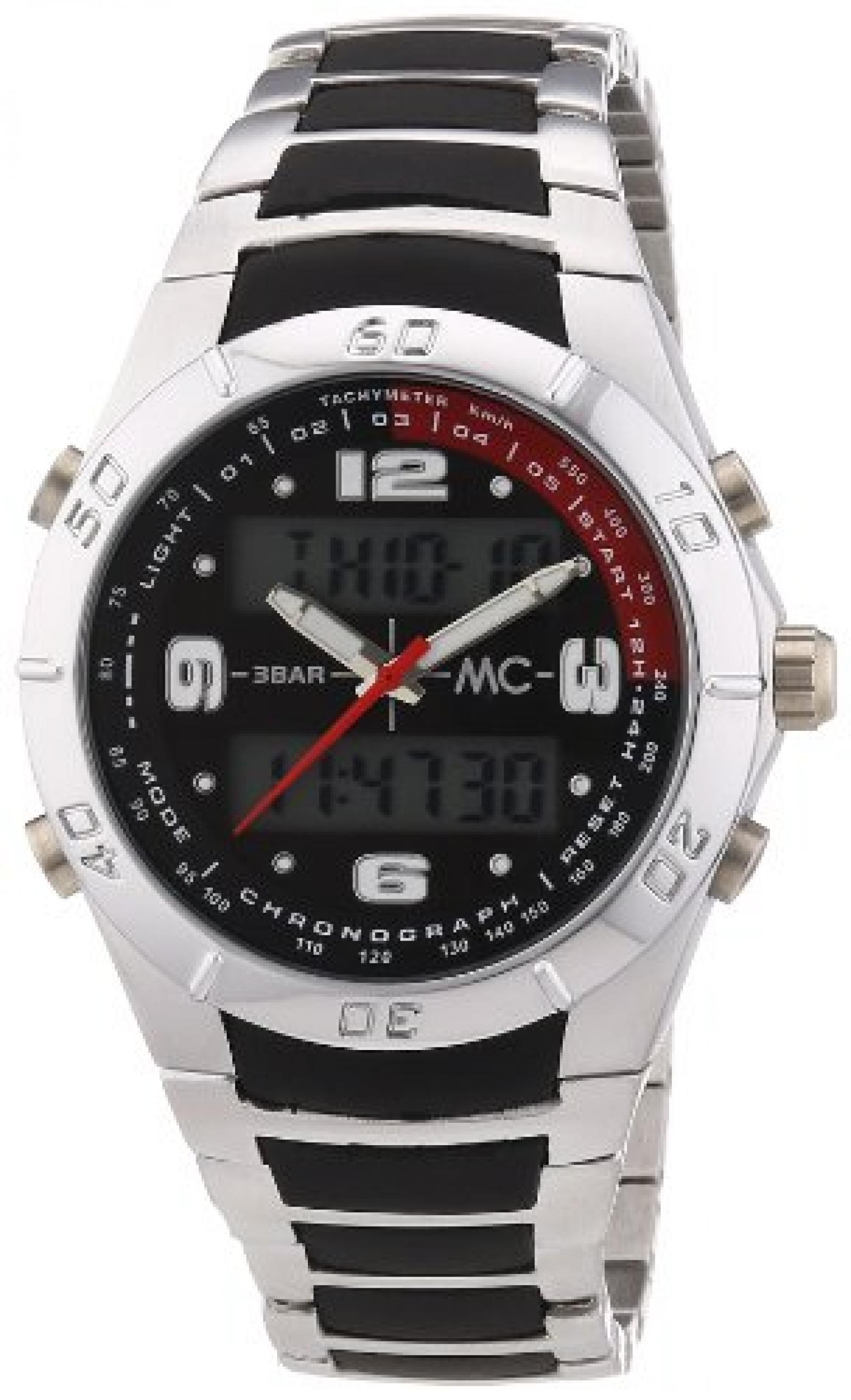 MC Timetrend Herren-Armbanduhr Analog - Digital Quarz Metallband 30342