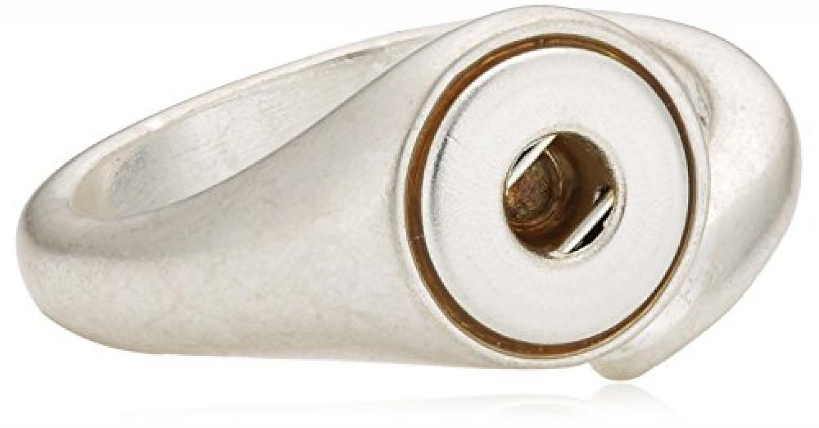 Pilgrim Jewelry Damen-Ring für Snaps aus der Serie Snap versilbert verstellbar 1.4 cm 431236004