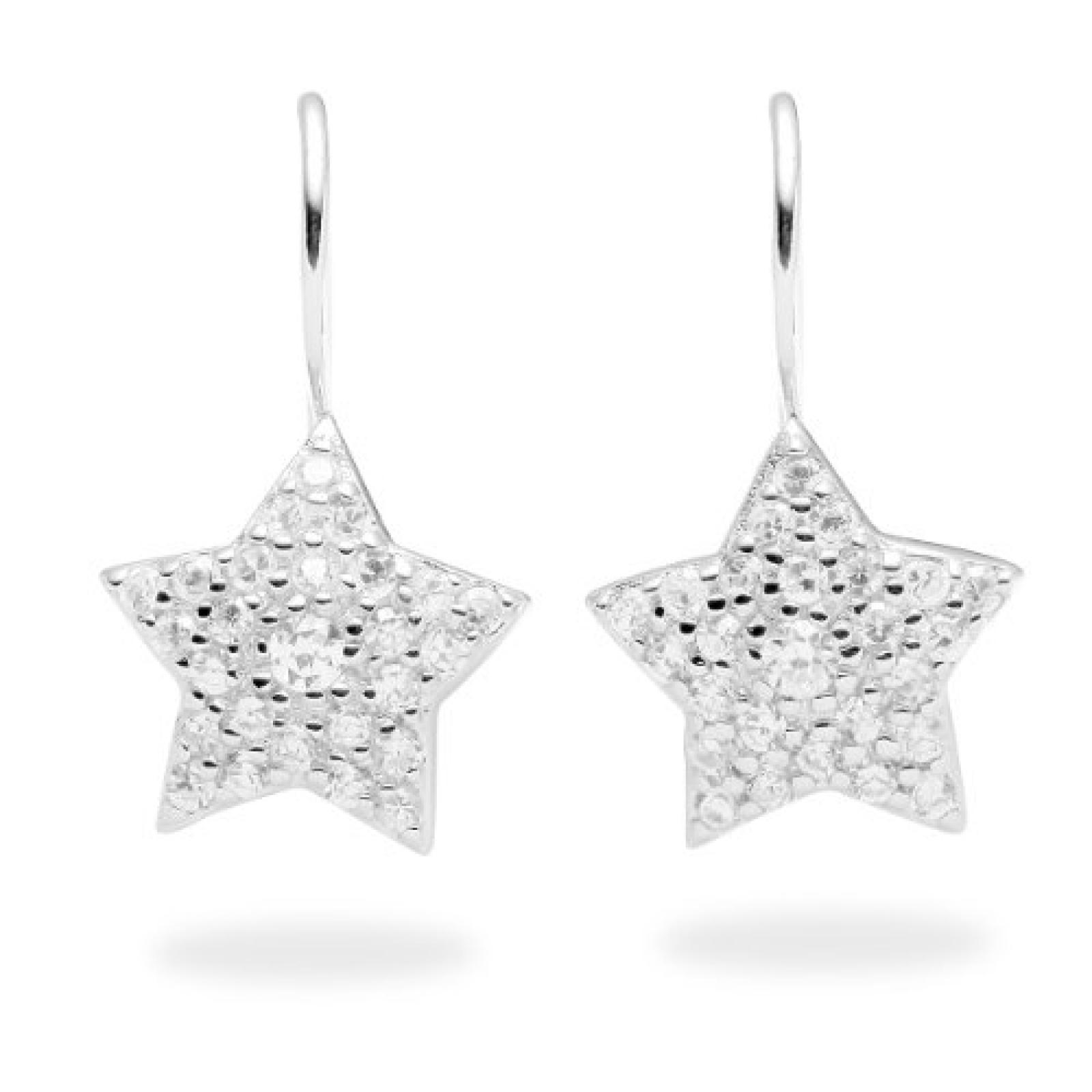 Rafaela Donata Damen-Ohrhänger Classic Collection 925 Sterling Silber Zirkonia weiß Sterne  60800020