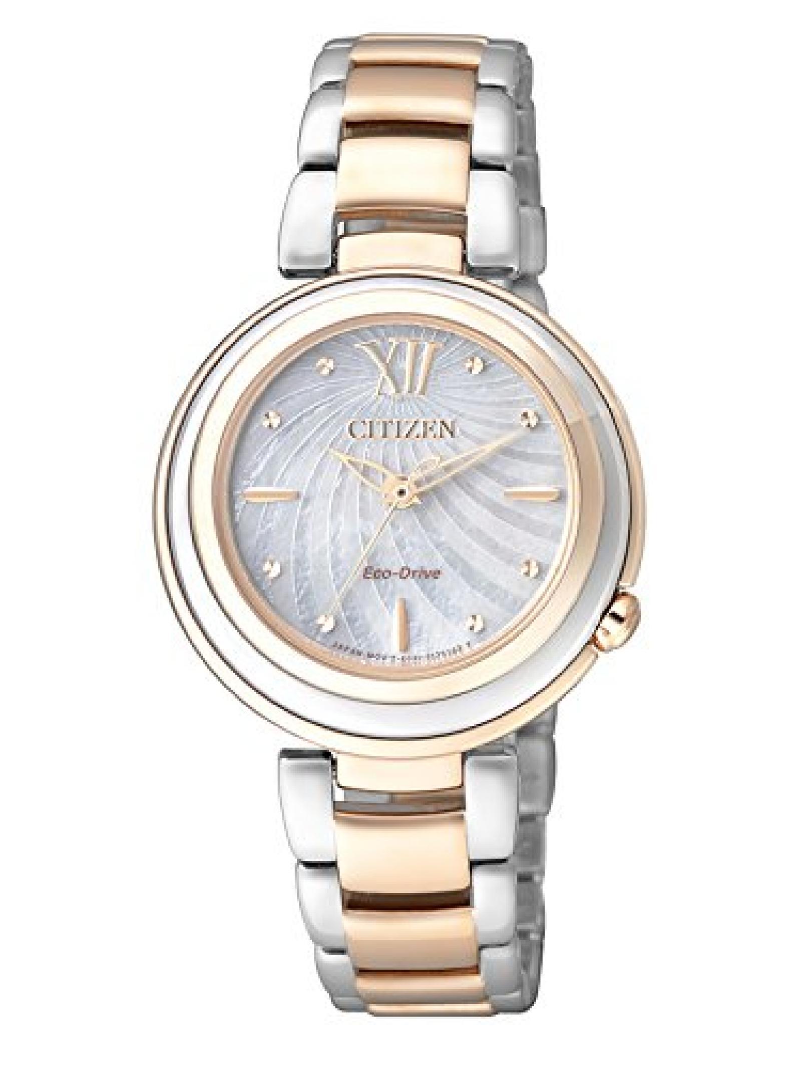 Citizen Damen-Armbanduhr XS Citizen L Analog Quarz Edelstahl EM0335-51D