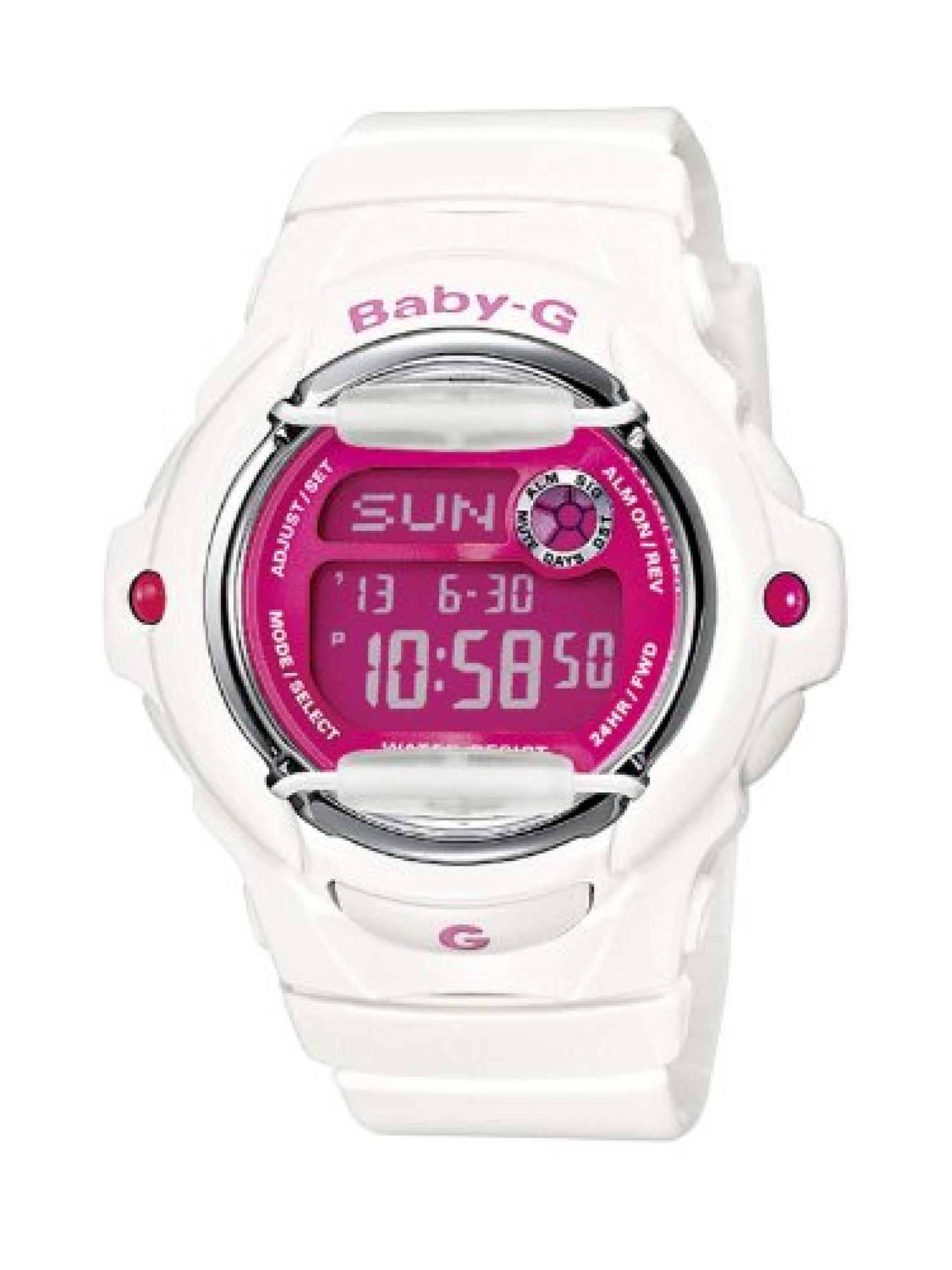 Casio Baby-G Damen-Armbanduhr weiß Digital Quarz BG-169R-7DER