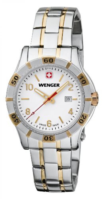 Wenger Damen-Armbanduhr XS Platoon Analog Quarz Edelstahl beschichtet 01.9211.105