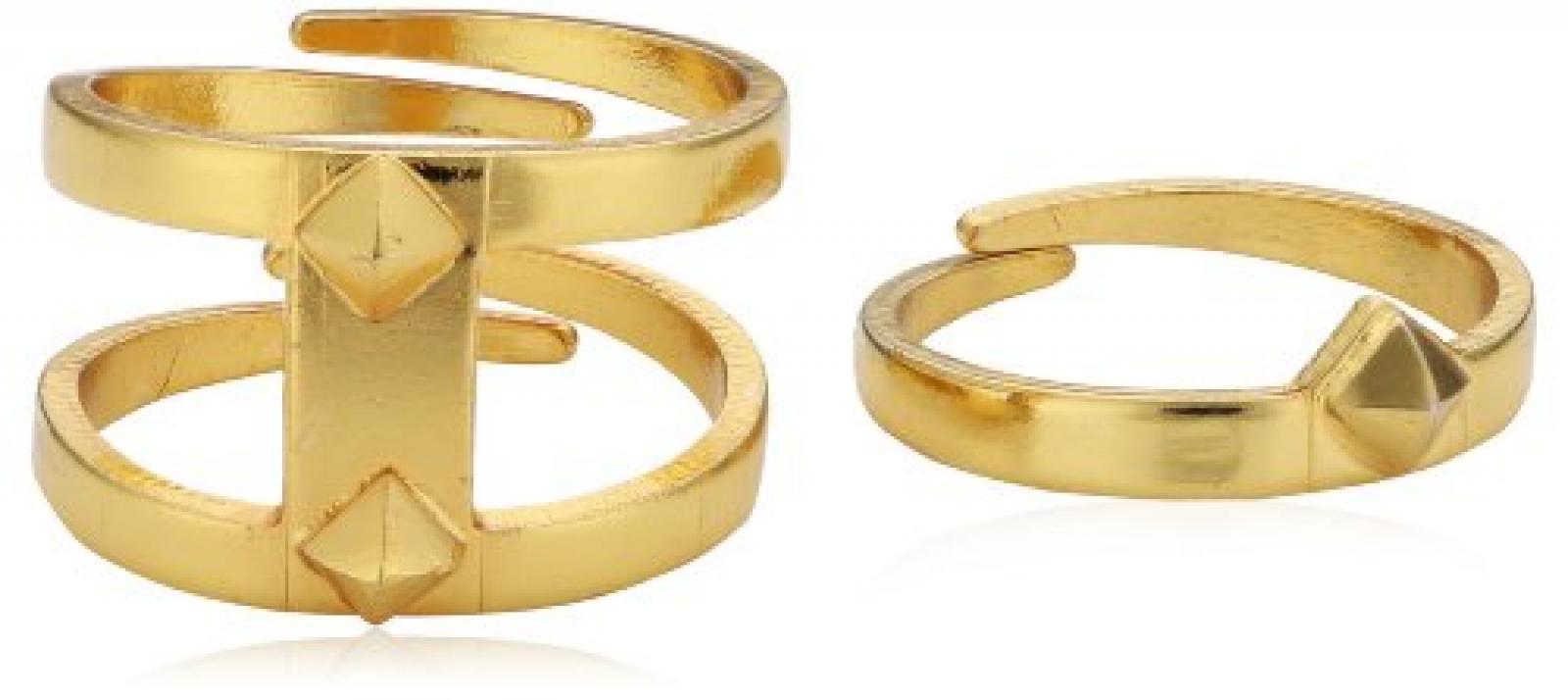 Pilgrim Jewelry Damen Ring Messing Tiny Rivet 1.3 cm 121422004