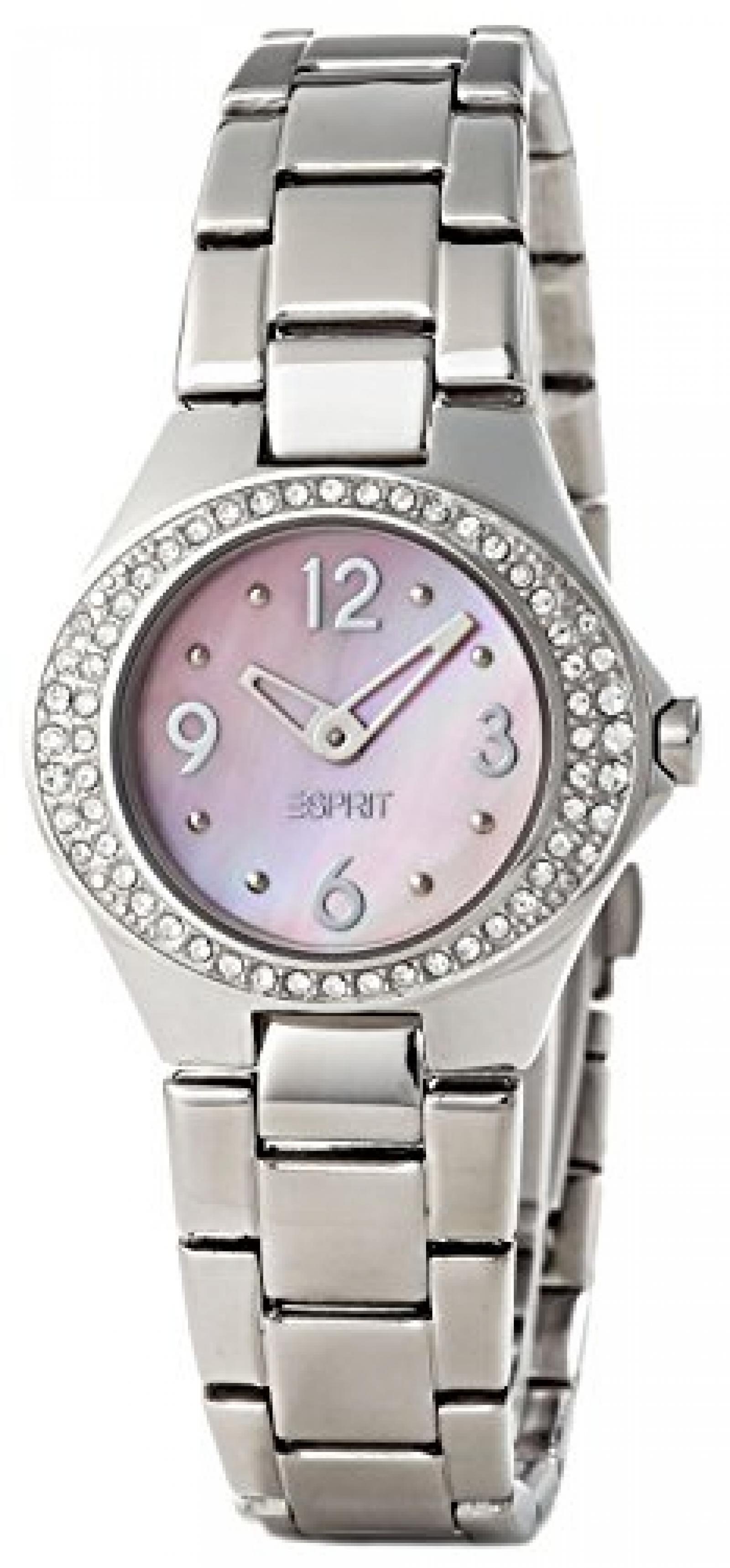 Esprit Damen-Armbanduhr Saturn Rose Analog Quarz Edelstahl ES103982002