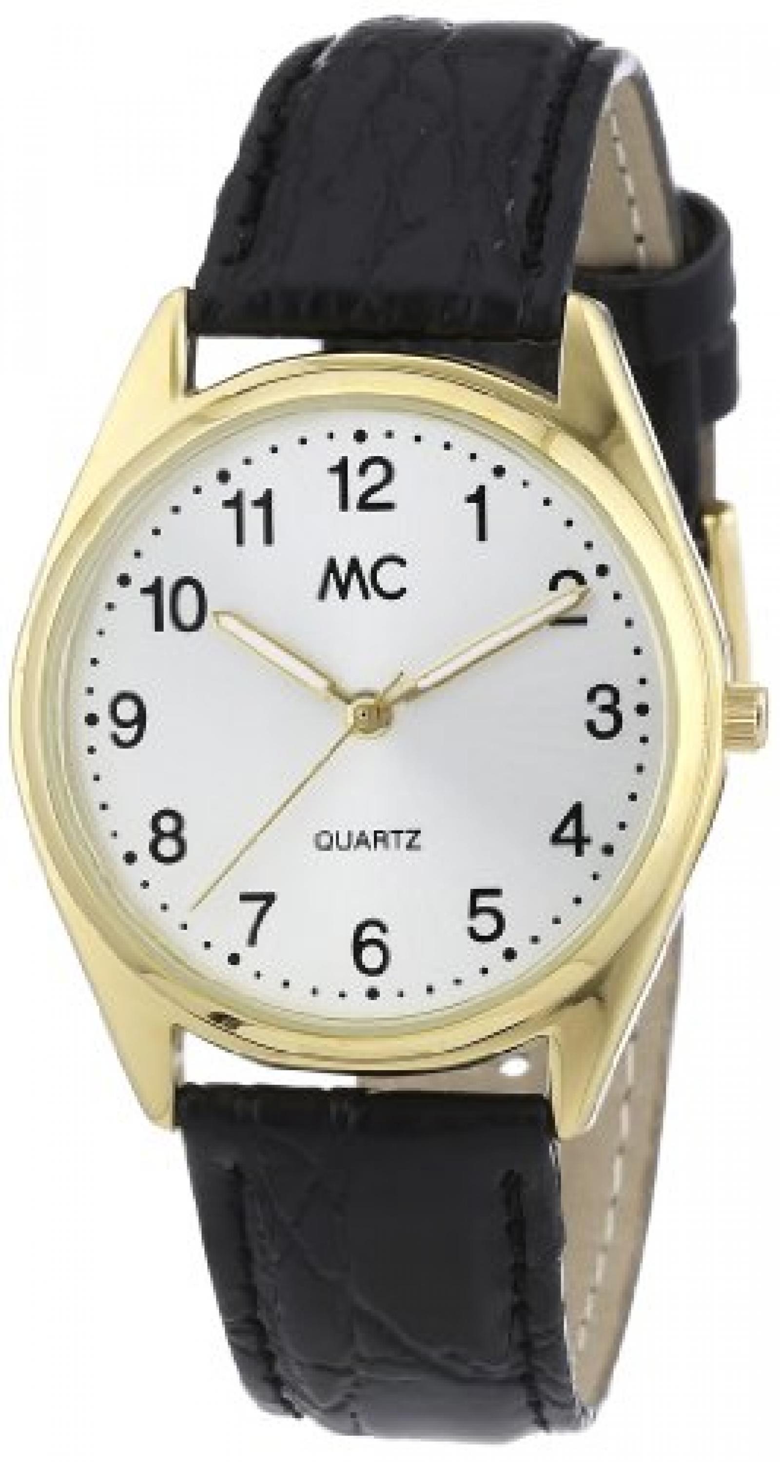MC Timetrend Herren-Armbanduhr Analog Quarz Leder 23685