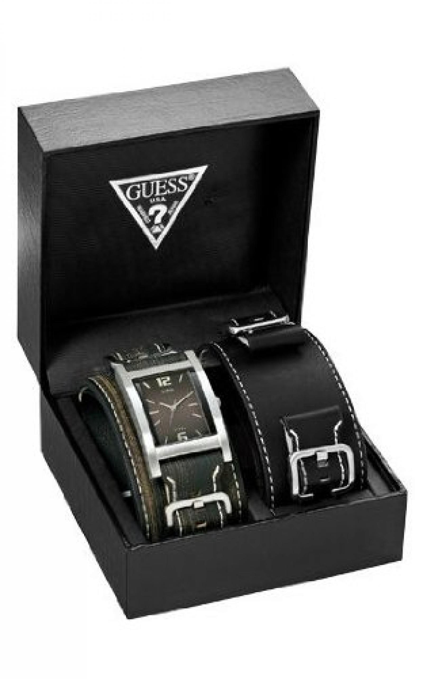 Guess Herren Armbanduhr Box Set 75540G1