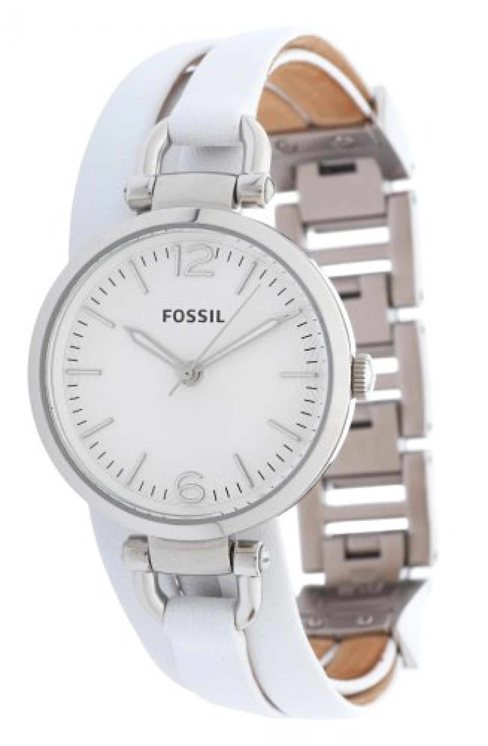 Fossil Damen-Armbanduhr XS Analog Quarz Leder ES3246