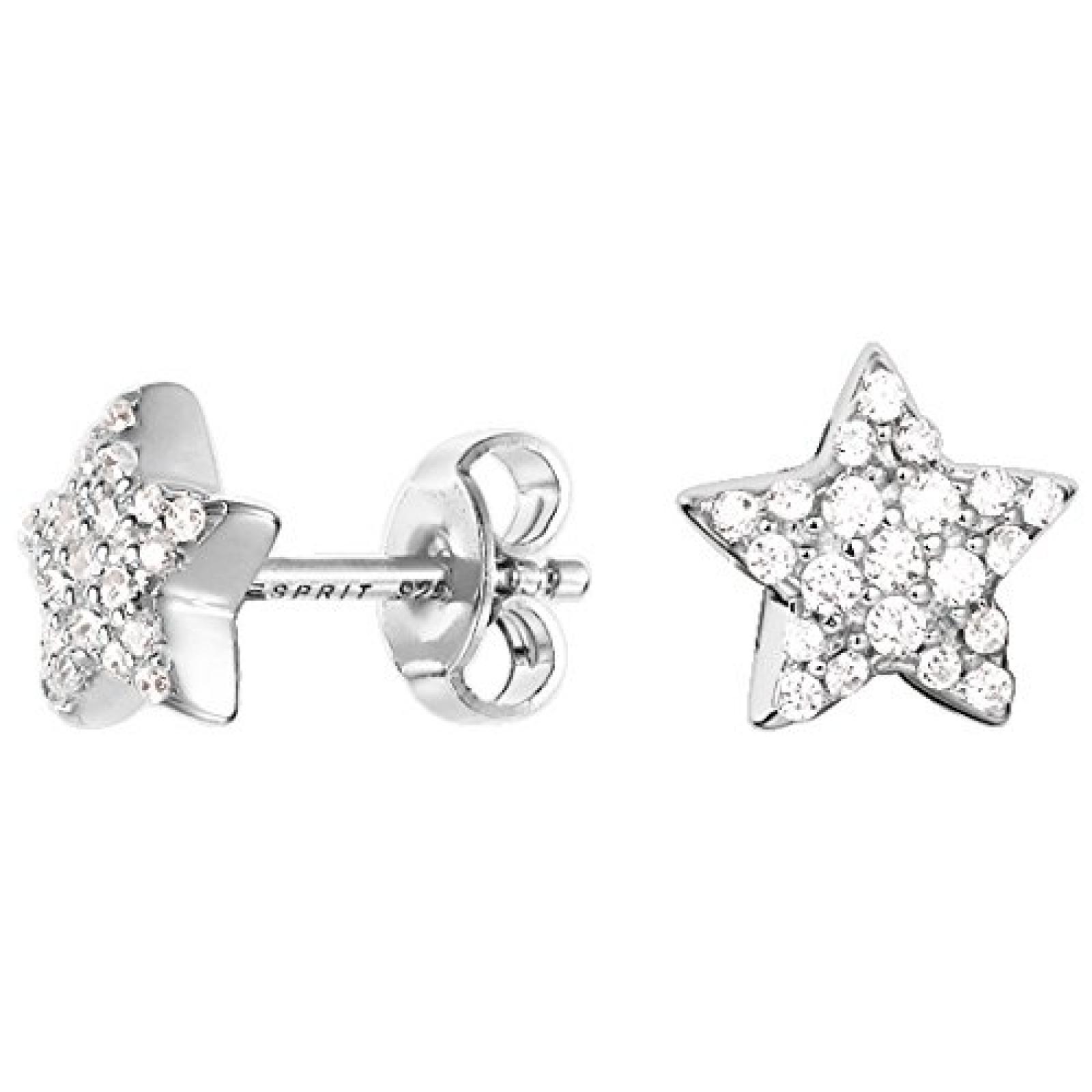 Esprit Damen-Ohrstecker 925 Sterling Silber Zirkonia Petite ESER92692A000